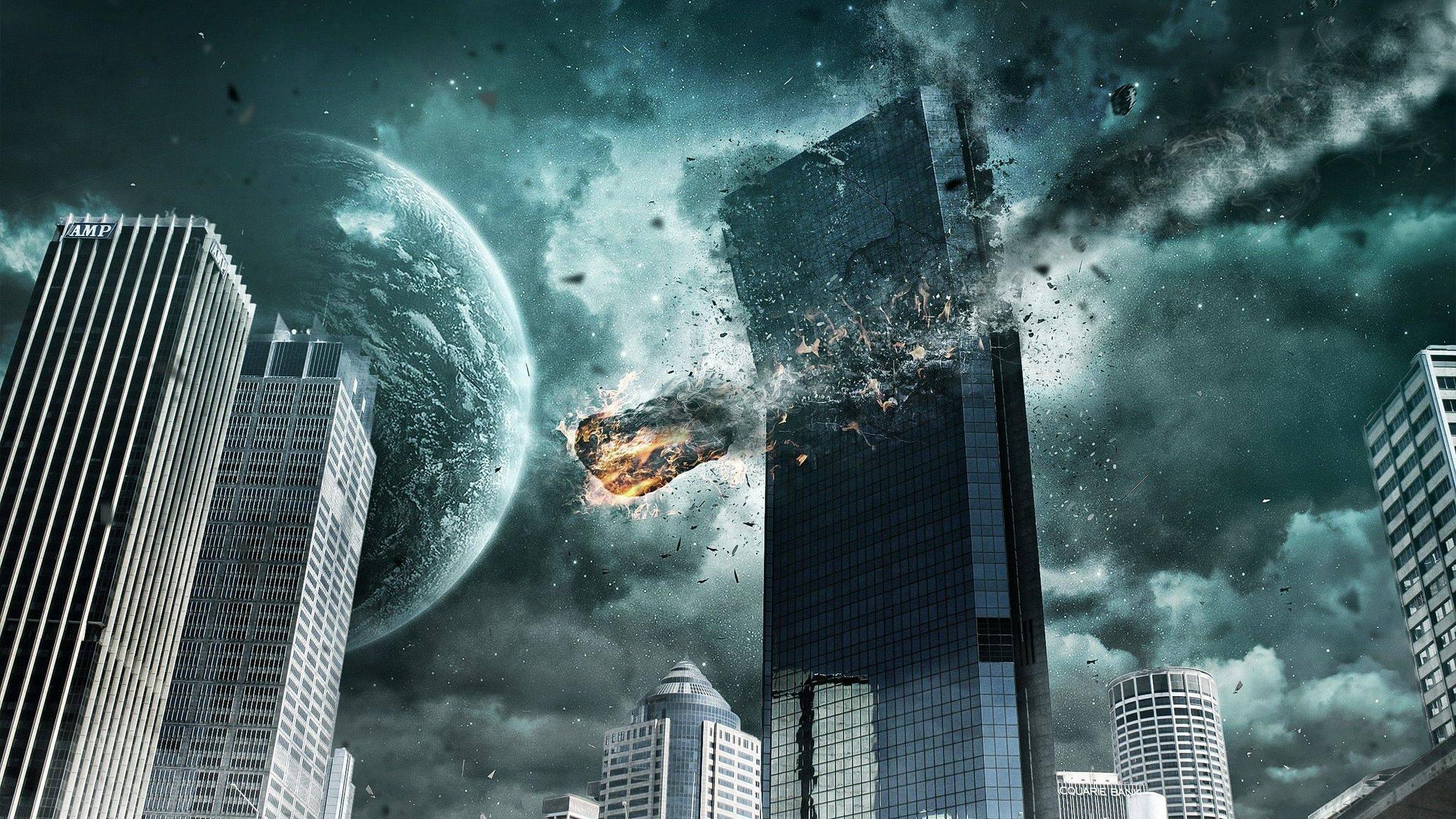 cityscape skyscraper metropolis disaster darkness screenshot computer wallpaper atmosphere of earth 2074x1166 px