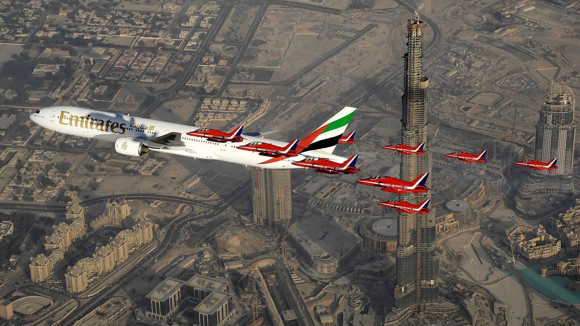 Обои пассажирский, airbus, авиалайнер, Emirates airline, Самолёт. Авиация foto 15