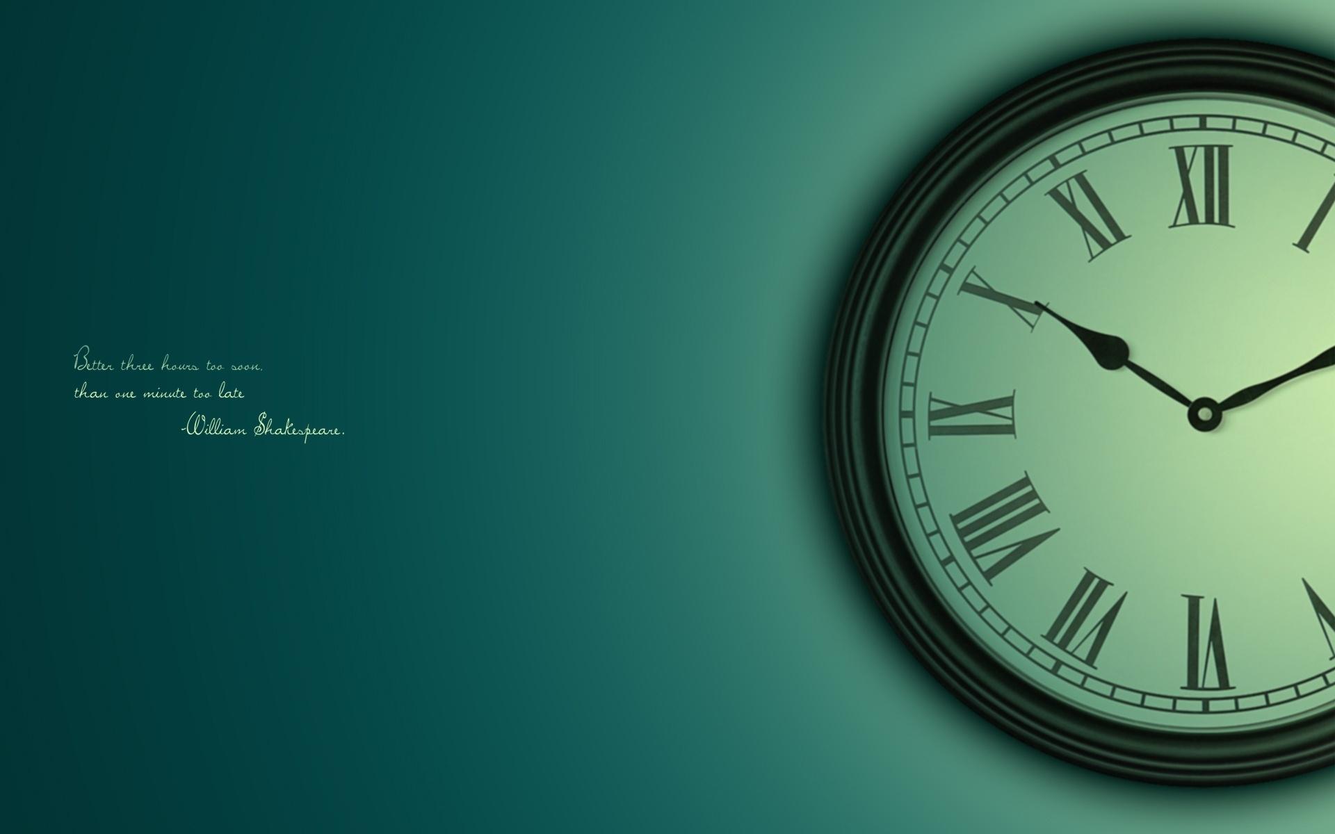 Wallpaper Clock Time Dial Saying Sage 1920x1200