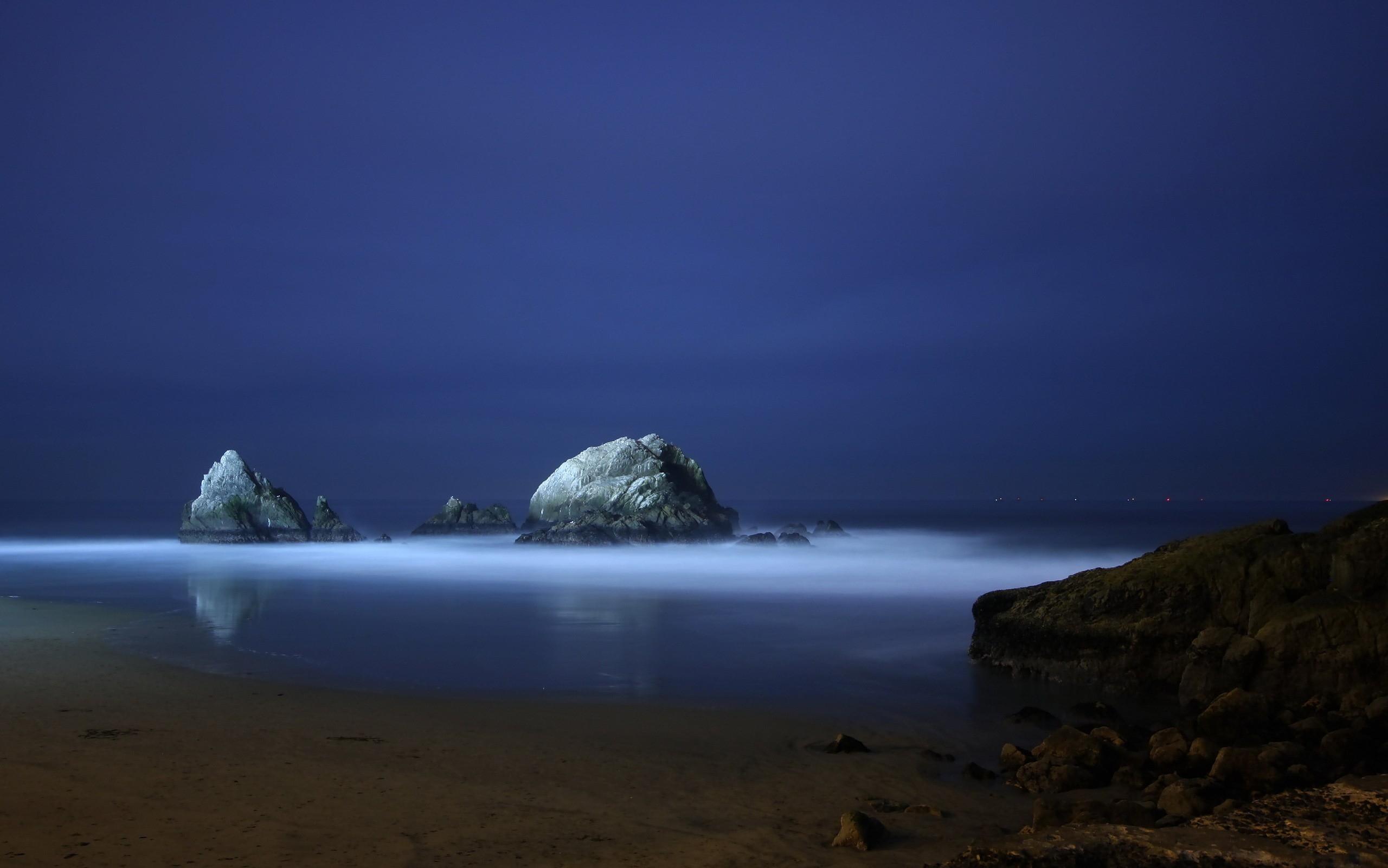 Картинка ночной берег моря