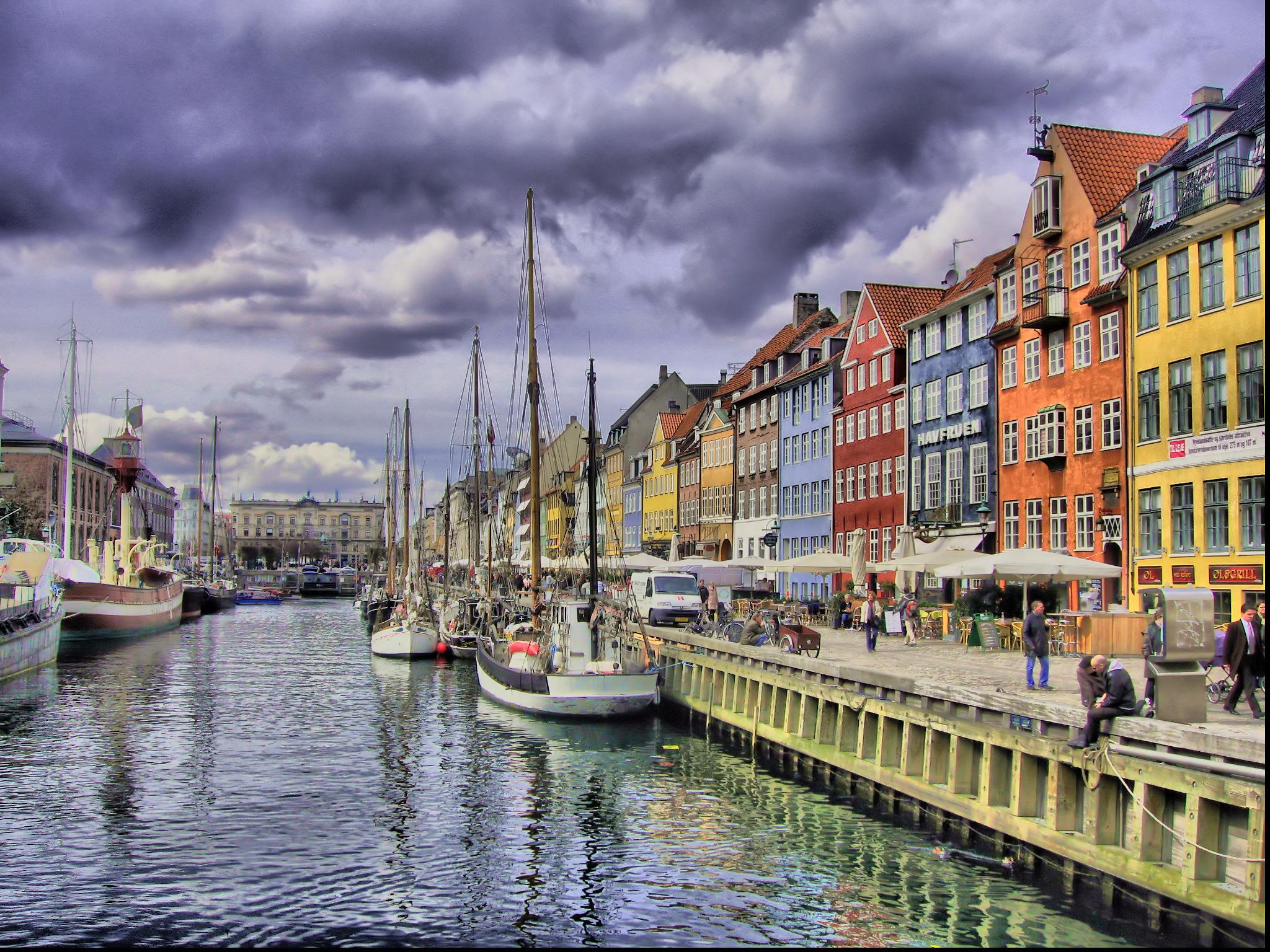 Wallpaper color colour copenhagen denmark nyhavn danmark k benhavn flickrcolour - Copenhagen wallpaper ...