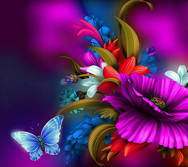Wallpaper Color Love Color Correction Flowers Plants
