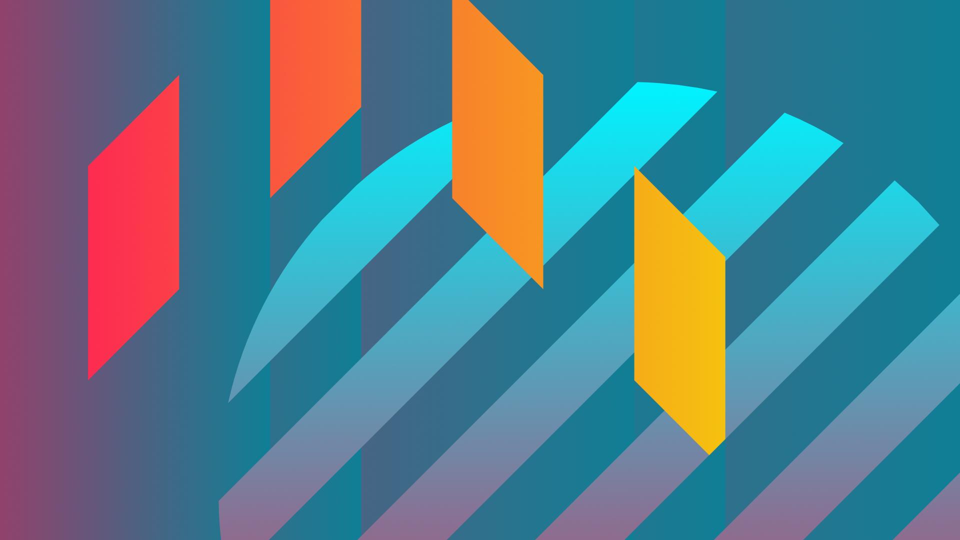 Wallpaper : colorful, blue, orange, neon, Flatdesign ...