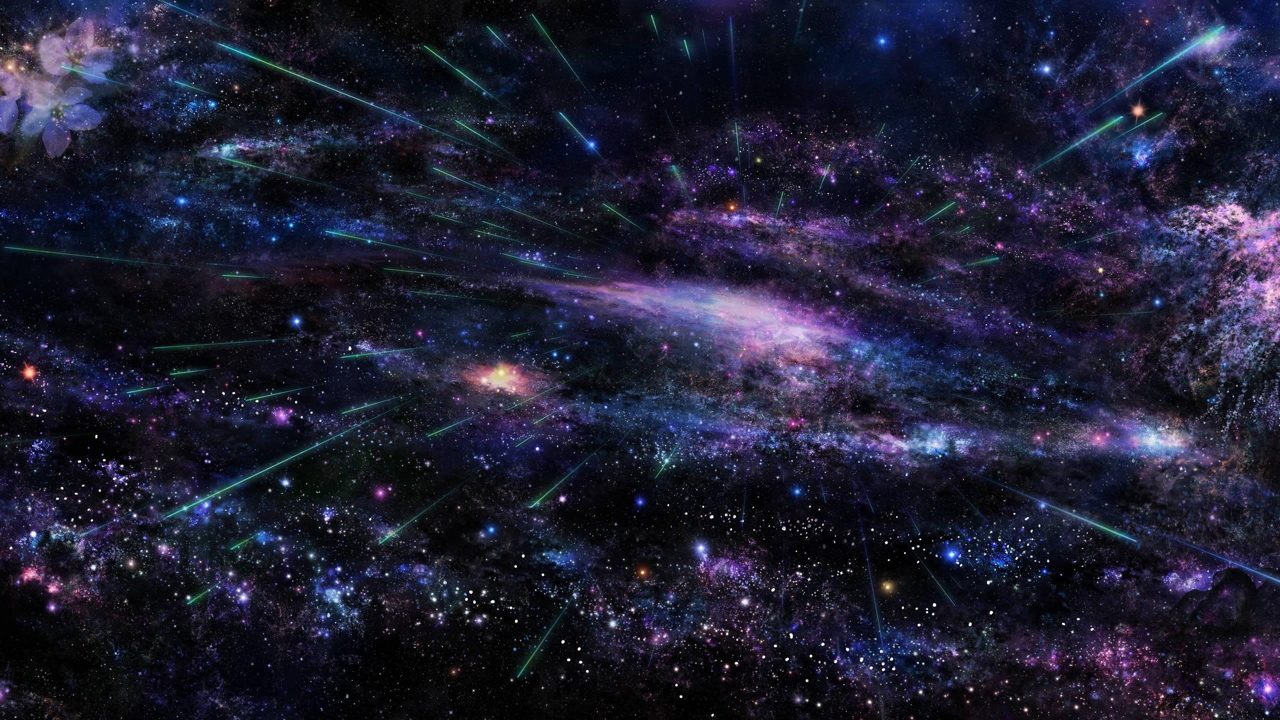 Wallpaper Colorful Digital Art Abstract Galaxy Stars