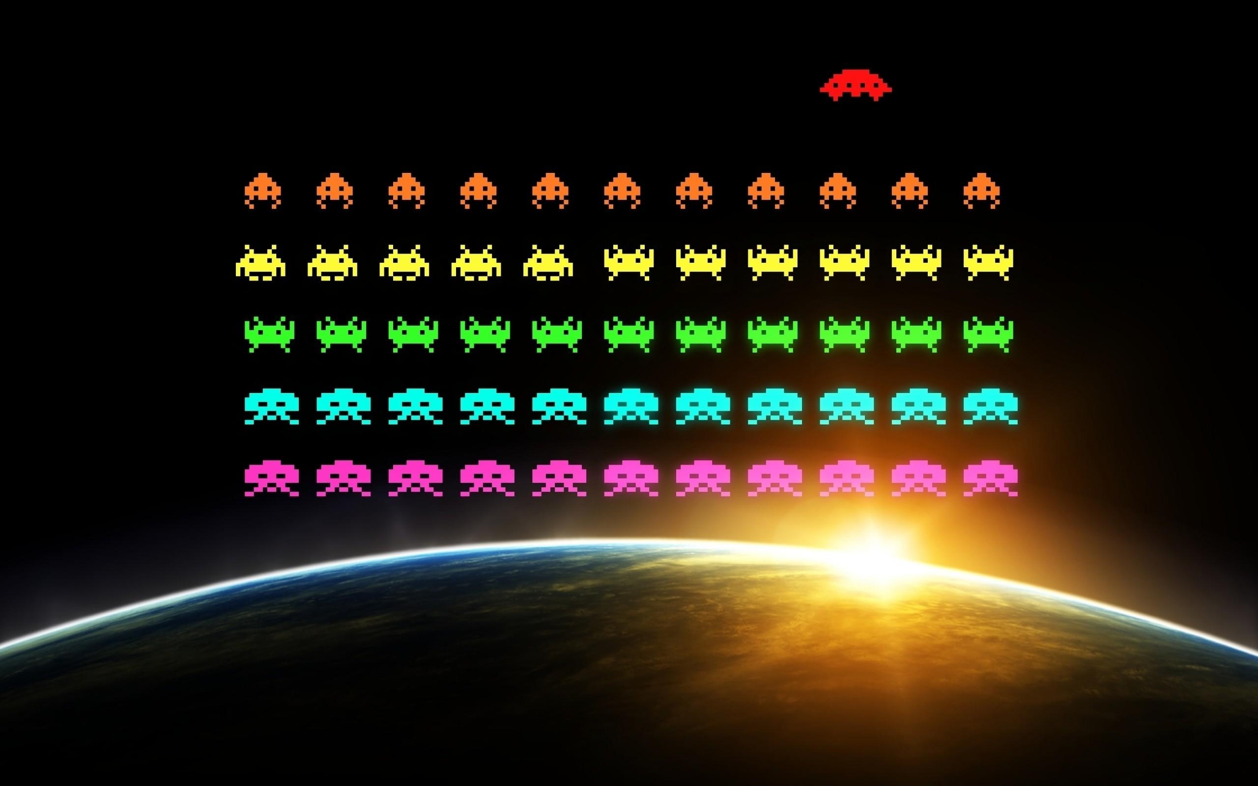 Best Wallpaper Movie Pixels - colorful-digital-art-video-games-black-background-night-pixel-art-space-Earth-Space-Invaders-Sun-pixels-circle-aliens-vintage-light-line-screenshot-2560x1600-px-computer-wallpaper-font-693798  You Should Have_29330.jpg
