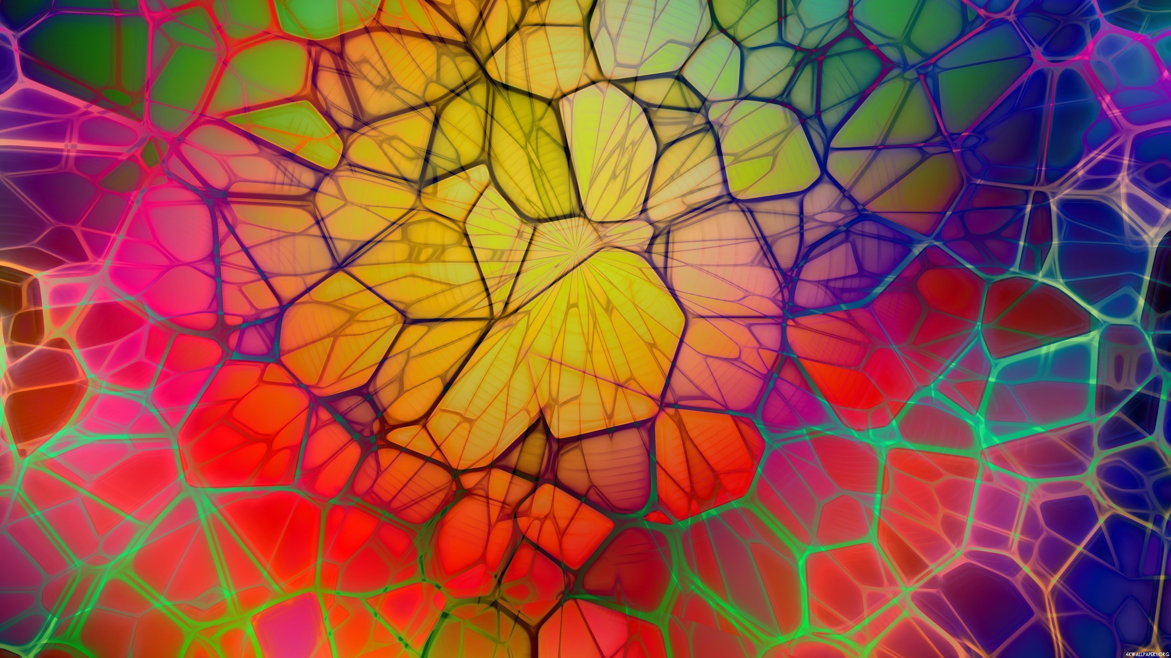 Abstract Painting 4k Hd Desktop Wallpaper For 4k Ultra Hd: Wallpaper : Colorful, Digital Art, Window, Abstract, 3D