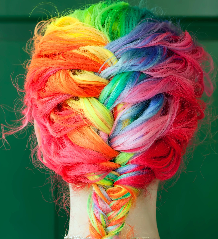 Tapety Kolorowy Farbowane Włosy Czerwony Warkocze