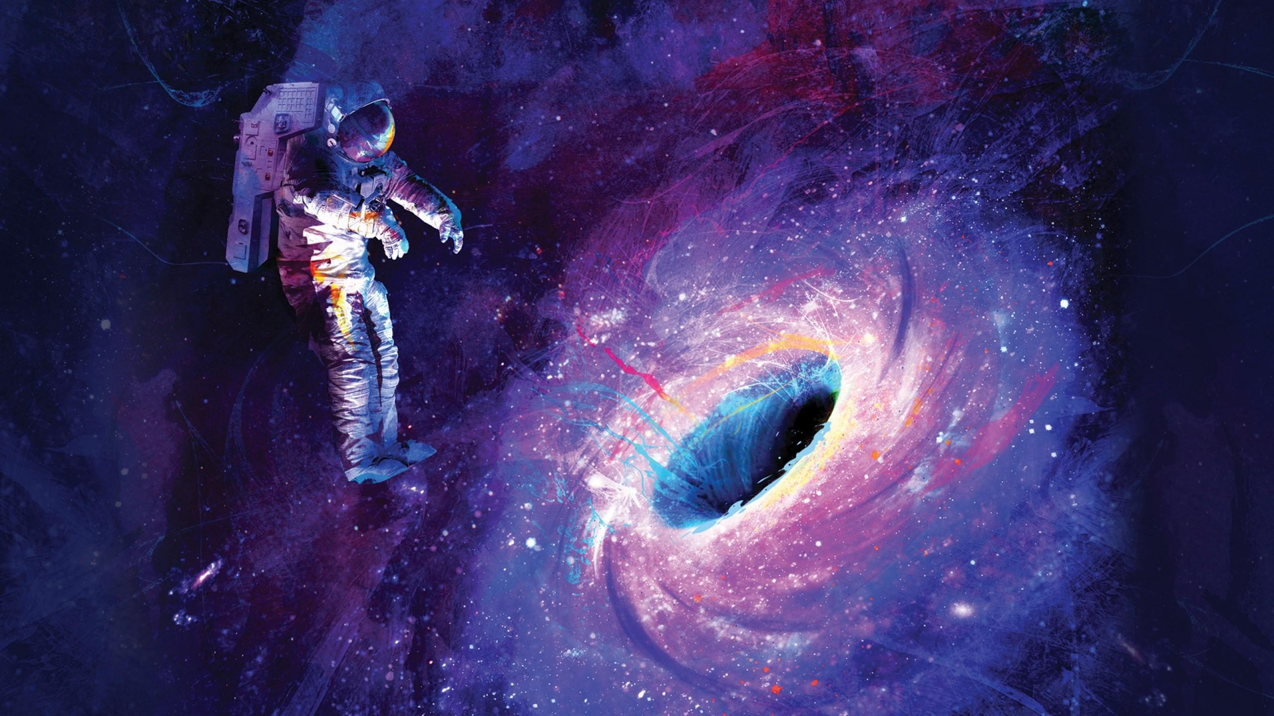 Wallpaper Colorful Galaxy Artwork Blue Nebula