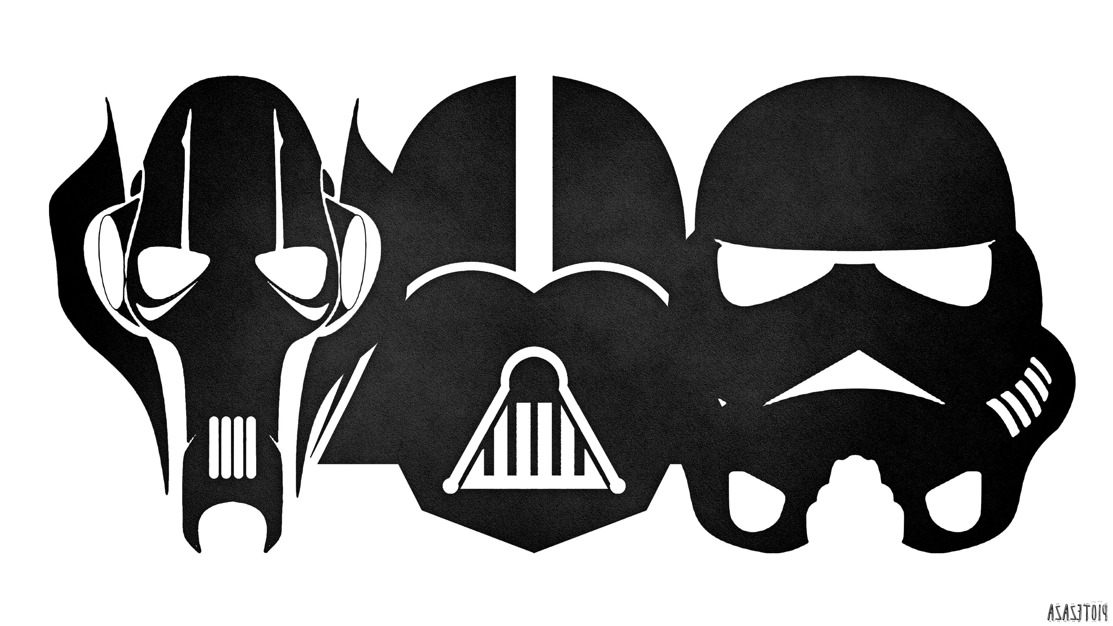 Wallpaper : colorful, illustration, Star Wars, minimalism