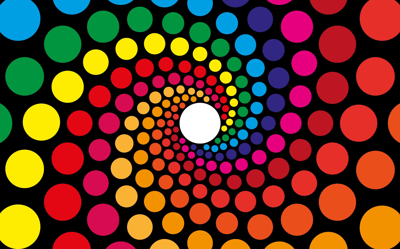 Fondo De Pantalla Abstracto Flores Y Circulos: Fondos De Pantalla : Vistoso, Ilustración, Abstracto