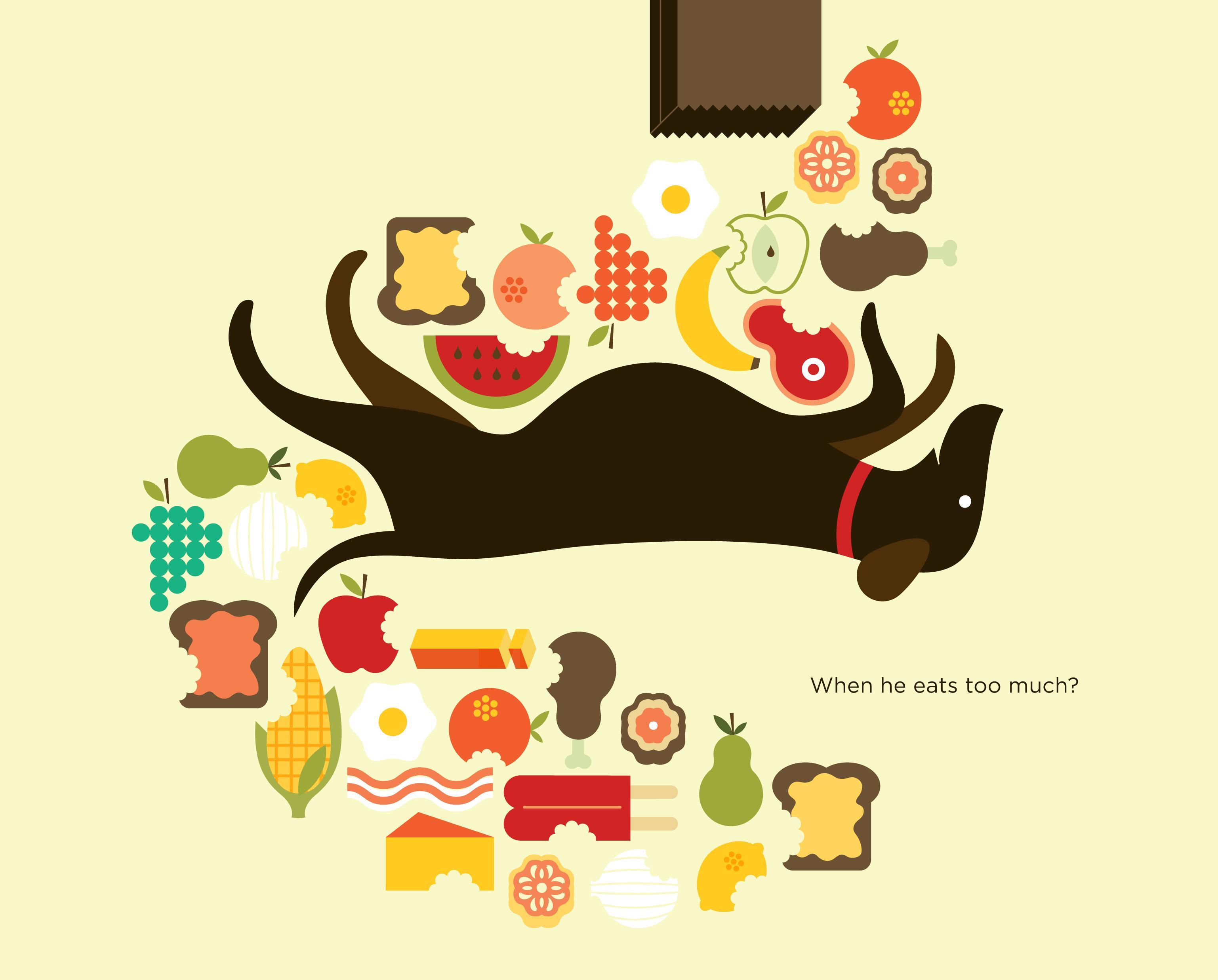 Wallpaper Warna Warni Ilustrasi Makanan Karya Seni Buah