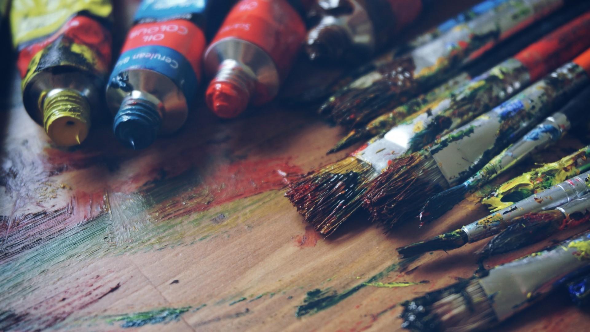 warme farben malerei, hintergrundbilder : bunt, malerei, rot, blau, pinsel, warme farben, Innenarchitektur