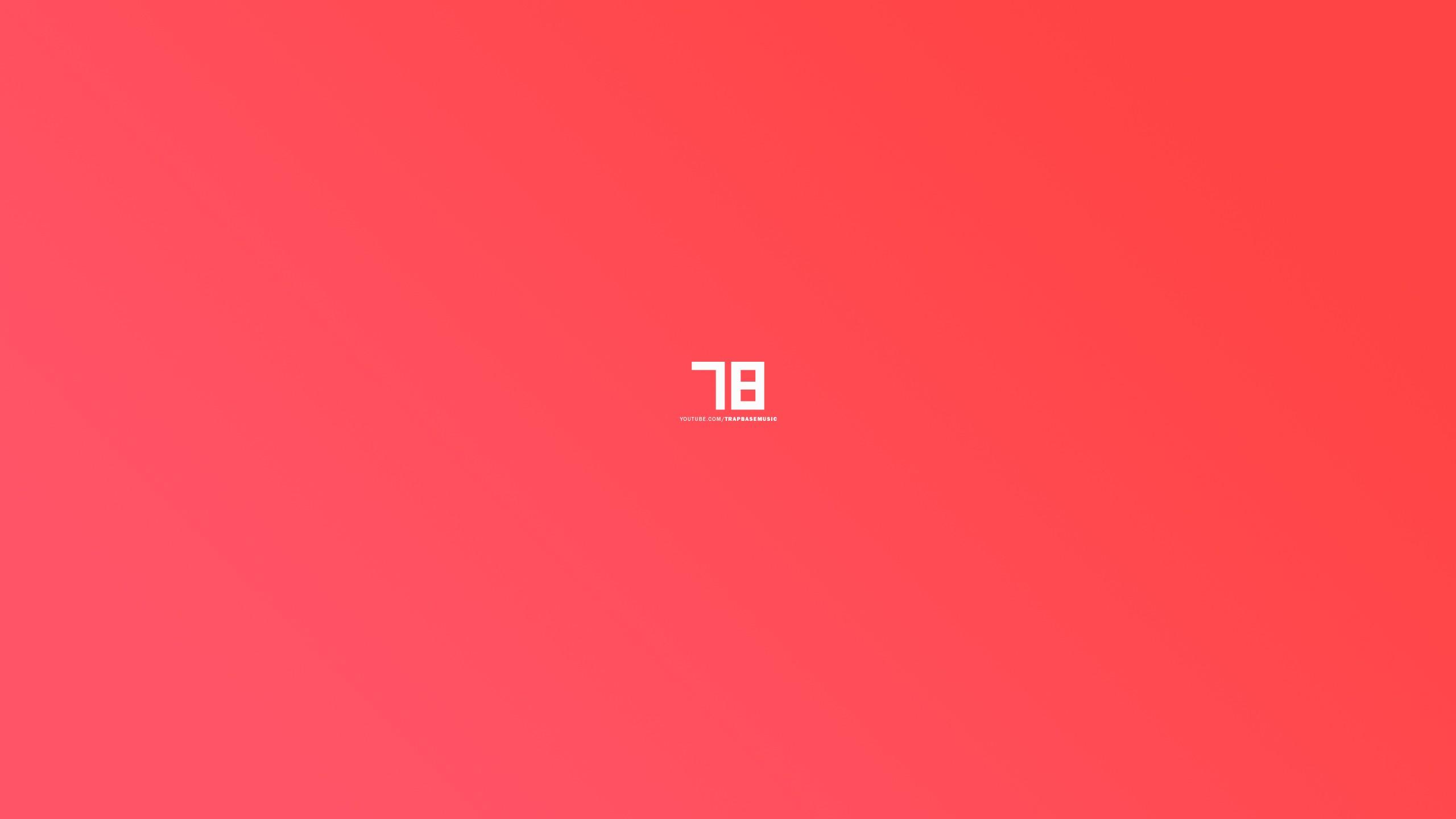 Masaüstü Renkli Basit Arka Plan Minimalizm Kırmızı Metin