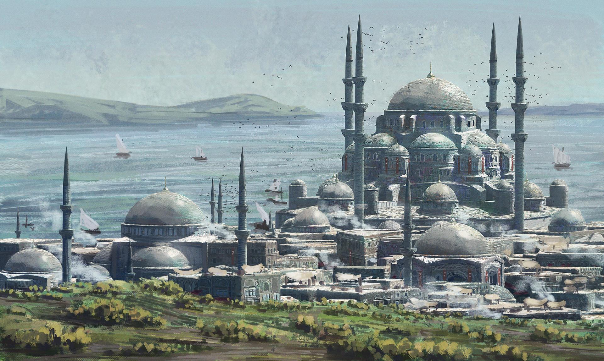 Wallpaper  Concept Art, Architecture, City, Ottoman Empire, Istanbul, Constantinople -4832