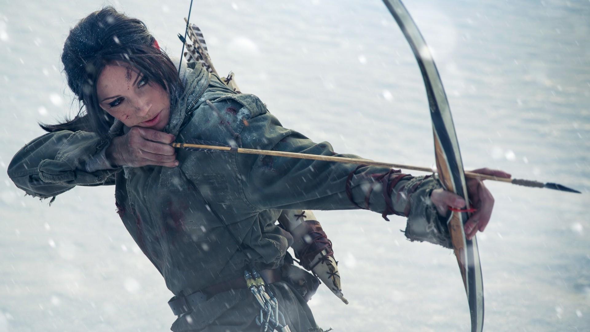 Cosplay Snow Winter Lara Croft Tomb Raider Rise Of The Screenshot 1920x1080 Px Atmosphere