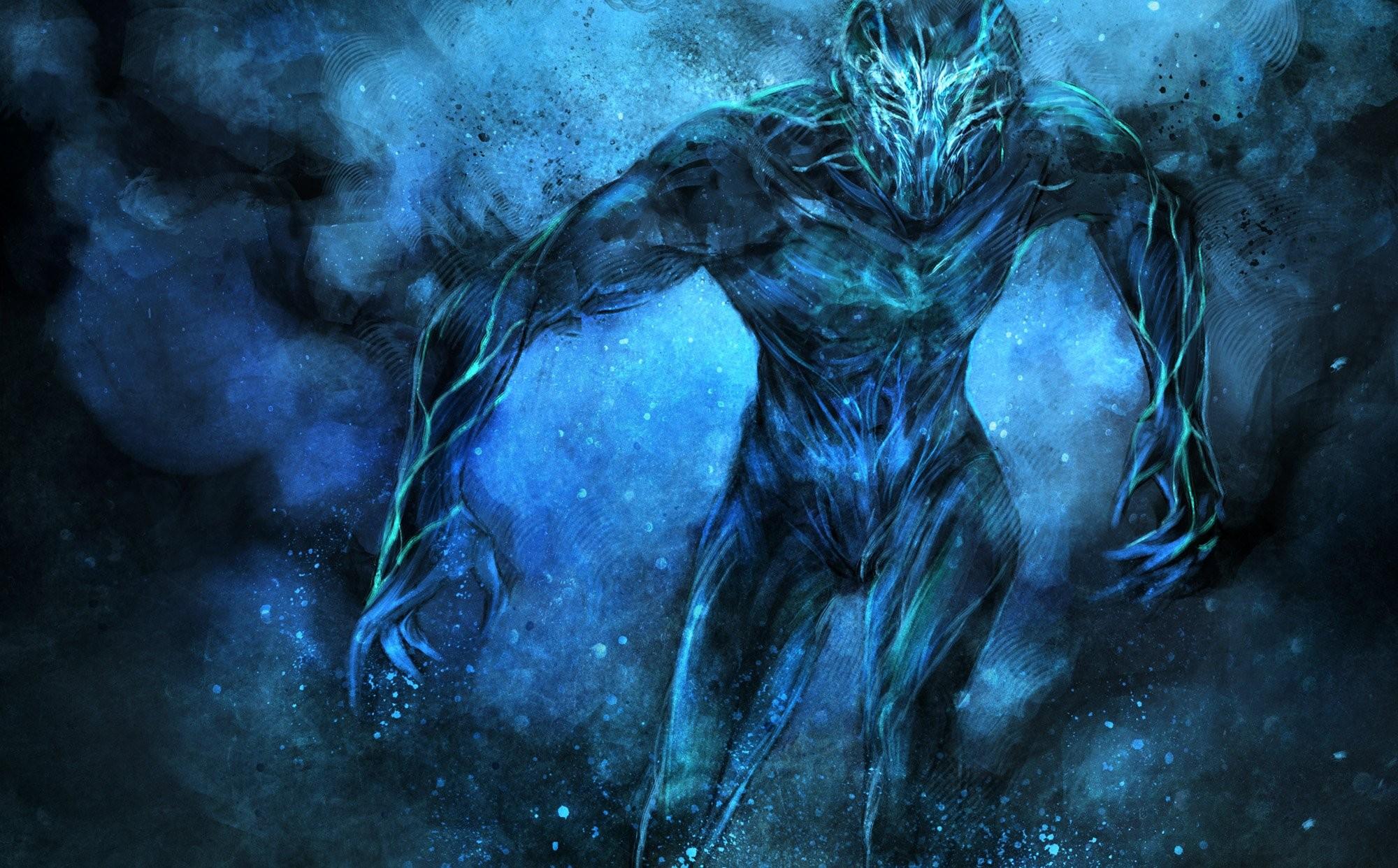 Синий демон картинки