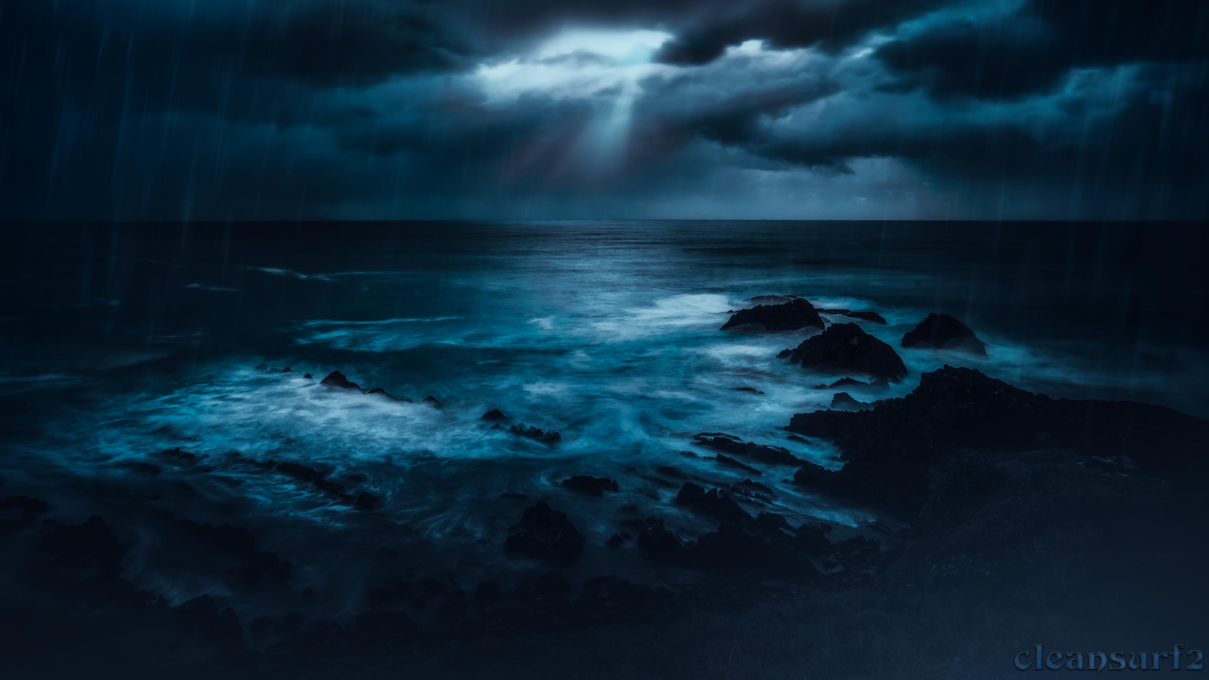 Sfondi Crescenthead Nsw Australia Spiaggia Tempesta Tramonto