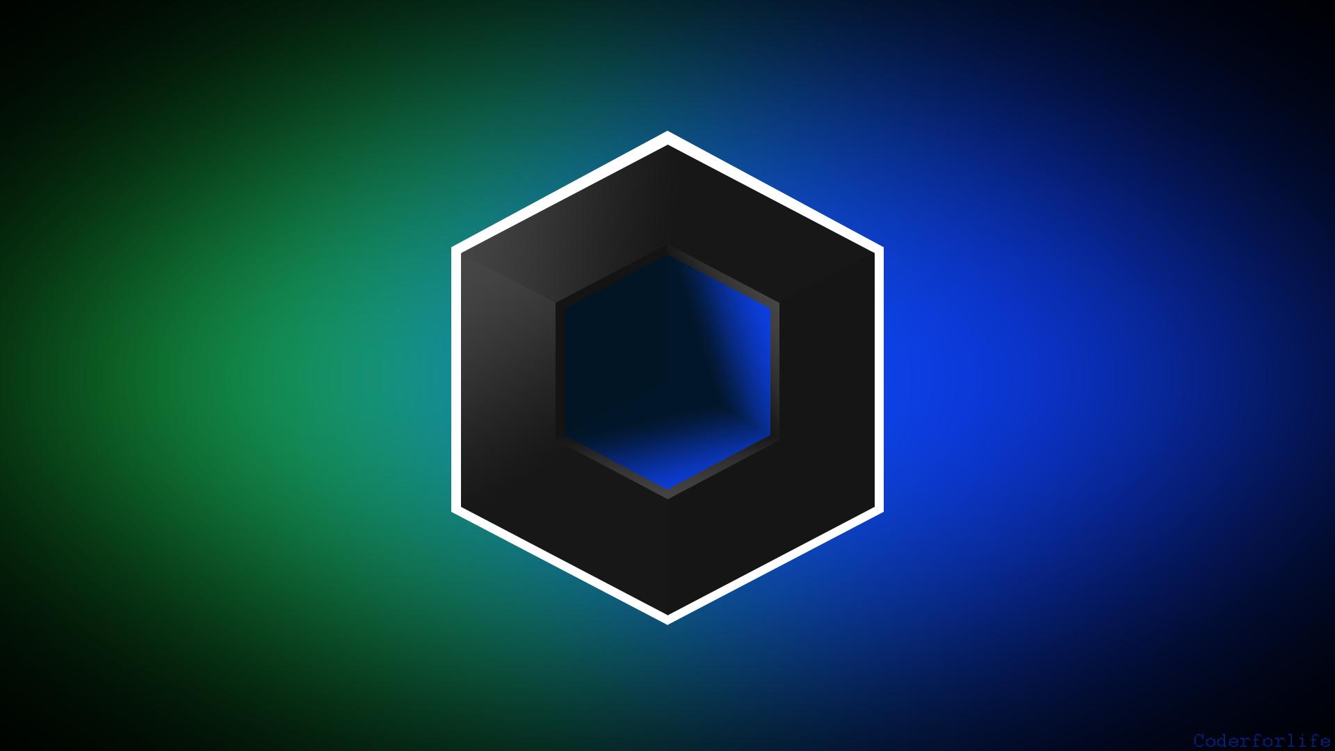 Fondos De Pantalla : Cubo, Abstracto, Azul, Verde, Borroso