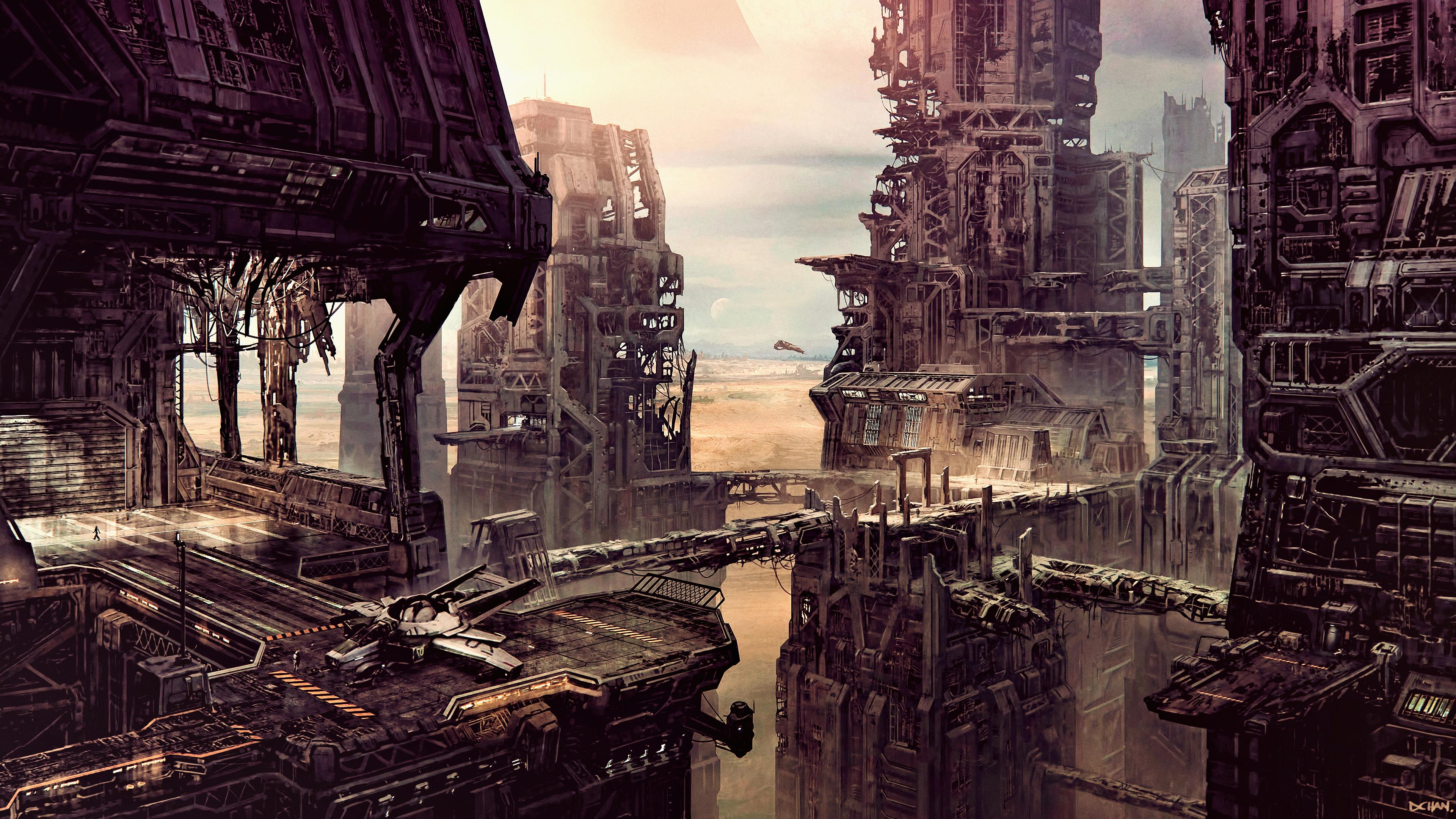 Cityscape Sci Fi City Concept Art