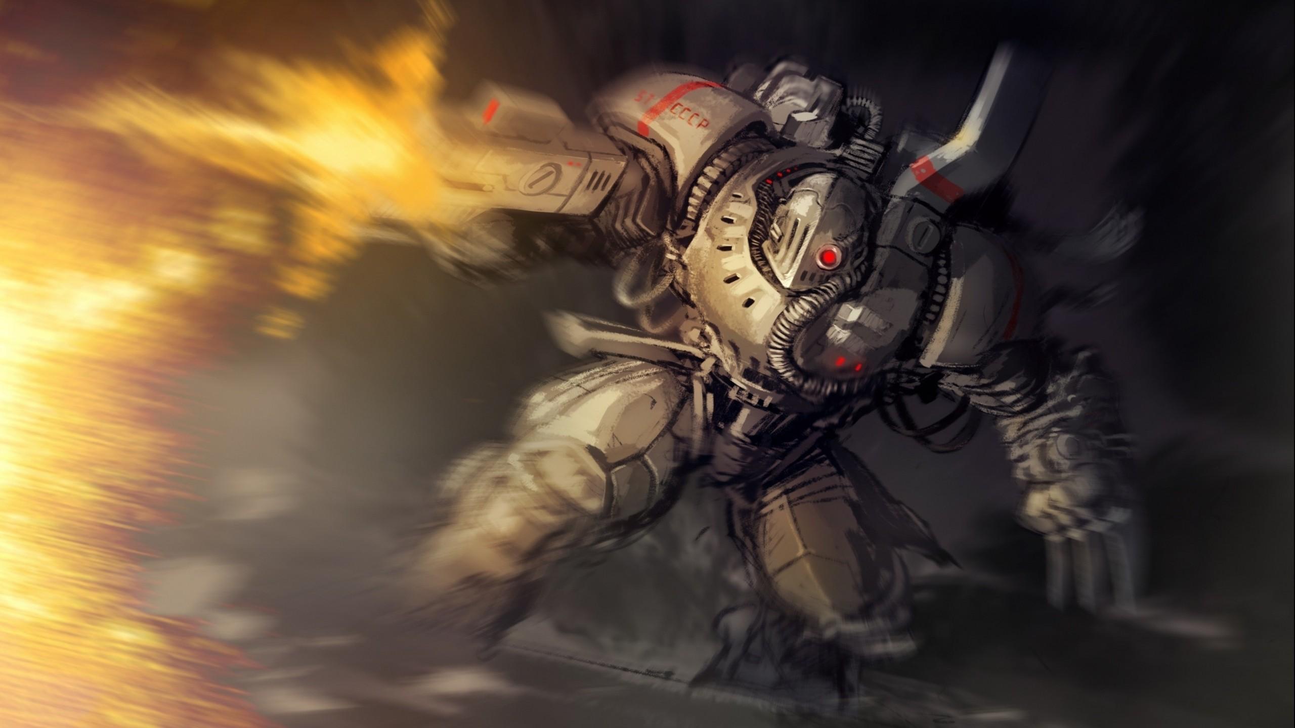Hintergrundbilder Cyberpunk Anime Kunstwerk Rüstung Mech
