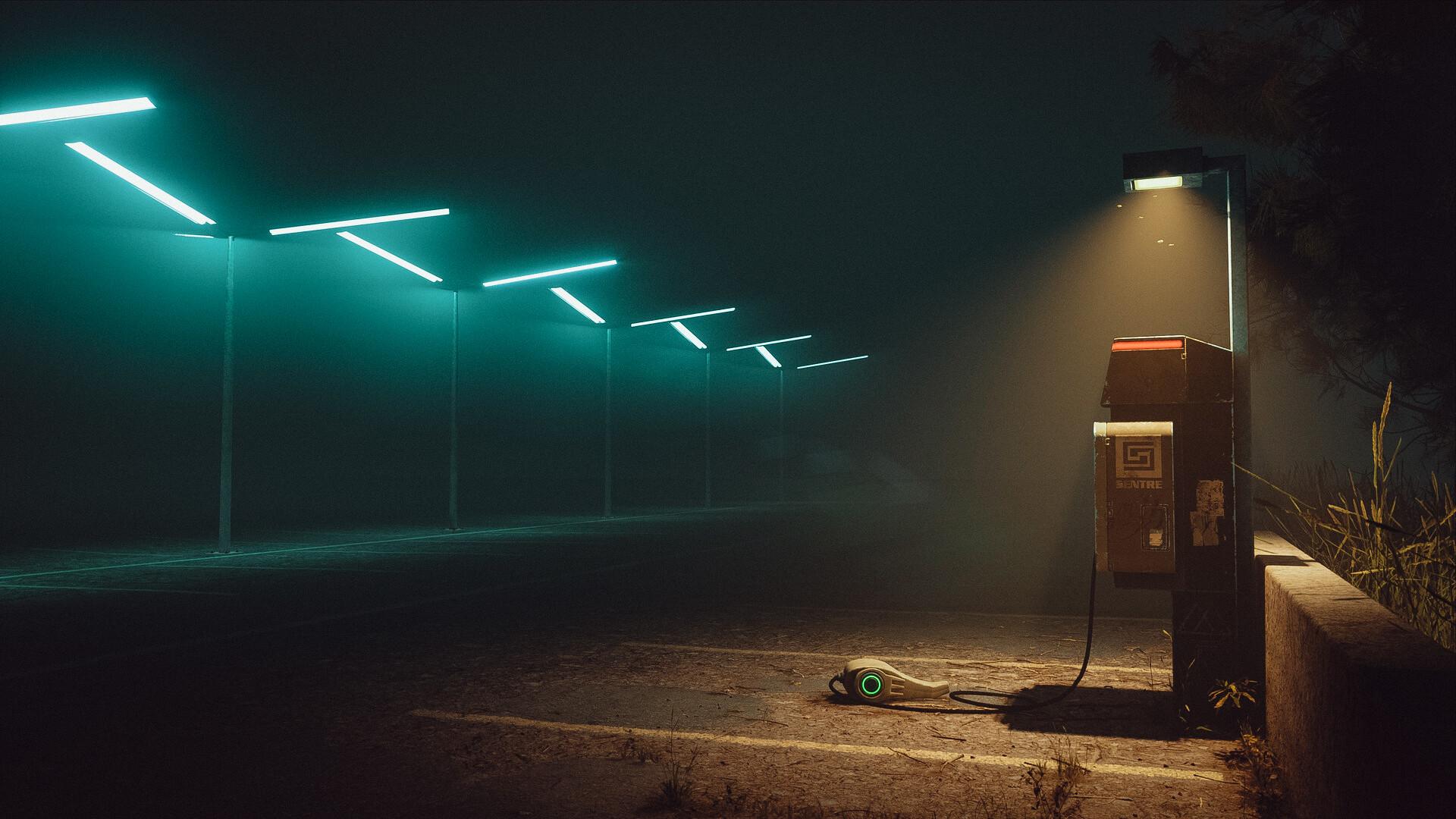 Wallpaper Cyberpunk Electricity Lights Dark 1920x1080 Starbeat 1623331 Hd Wallpapers Wallhere