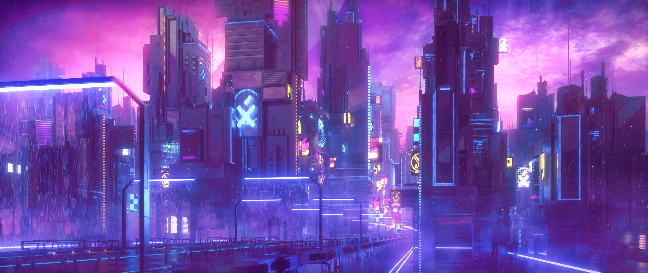 Wallpaper : cyberpunk, neon 2560x1080 - JesseTR - 1197780 ...