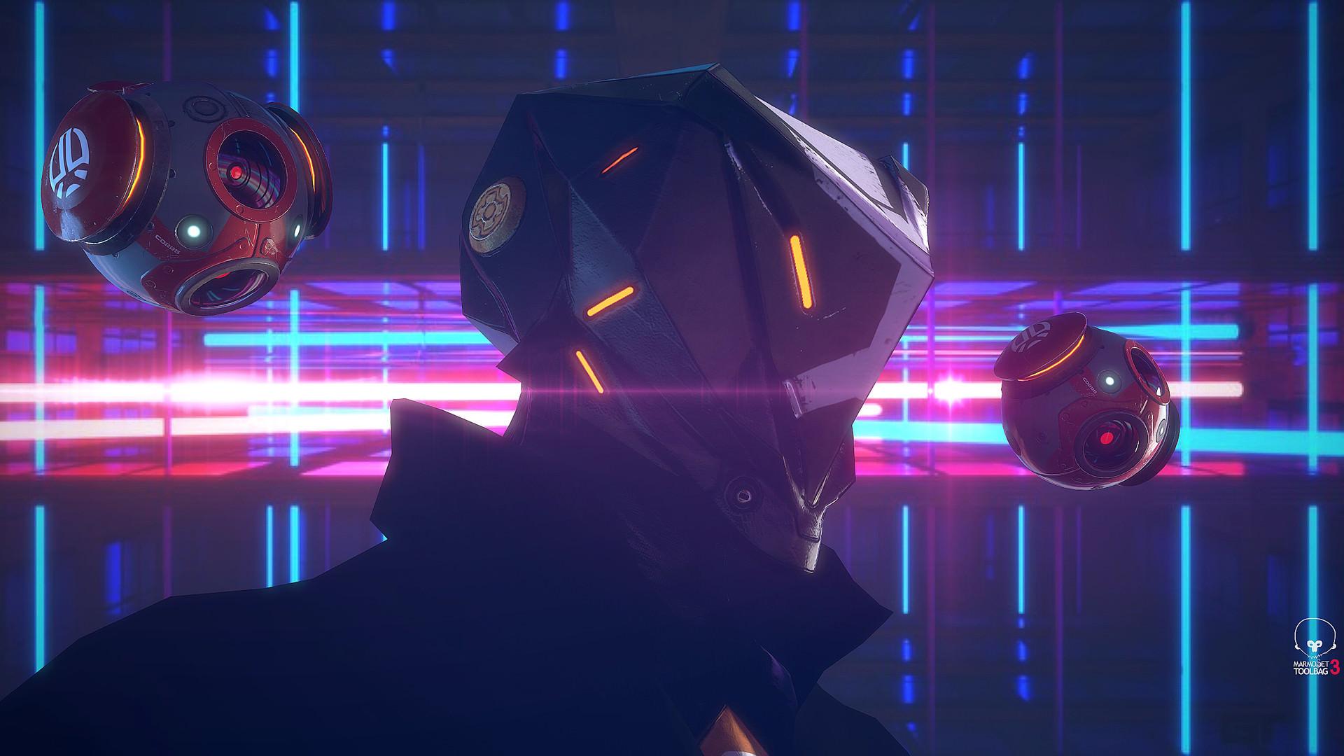 Wallpaper Cyberpunk Science Fiction Neon 1920x1080