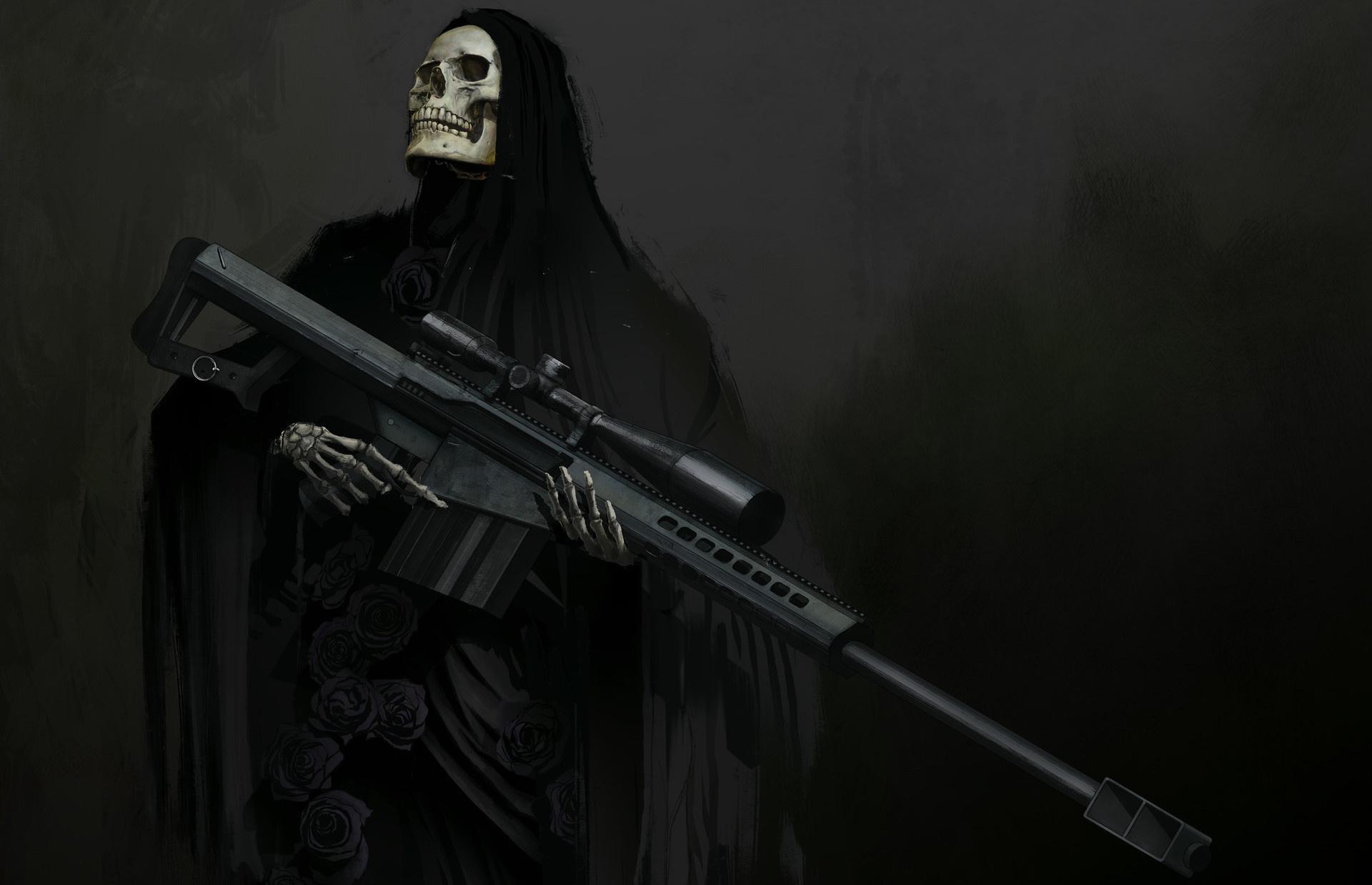 Grim Reaper, sniper rifle 1920x1238