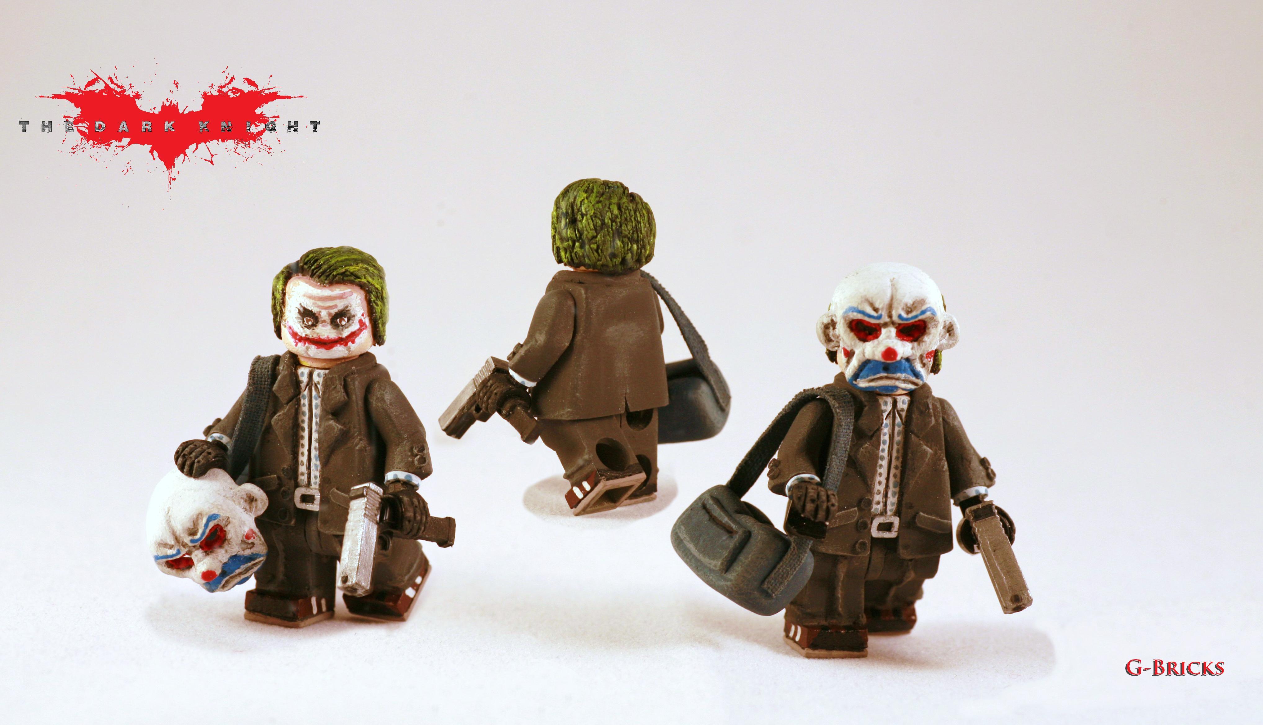 Masaüstü Karanlık Lego Maske Banka Yarasa Adam Joker şövalye