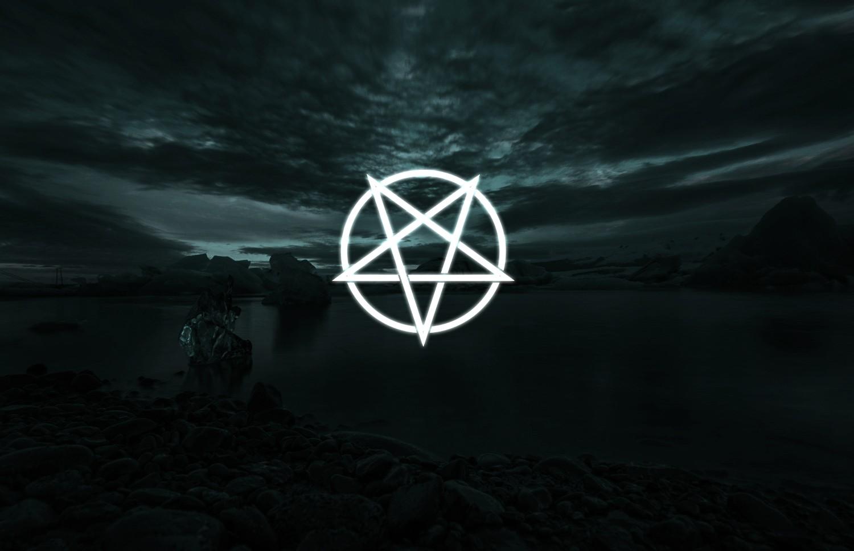 Wallpaper Dark Satanism Satanic Landscape Lighter