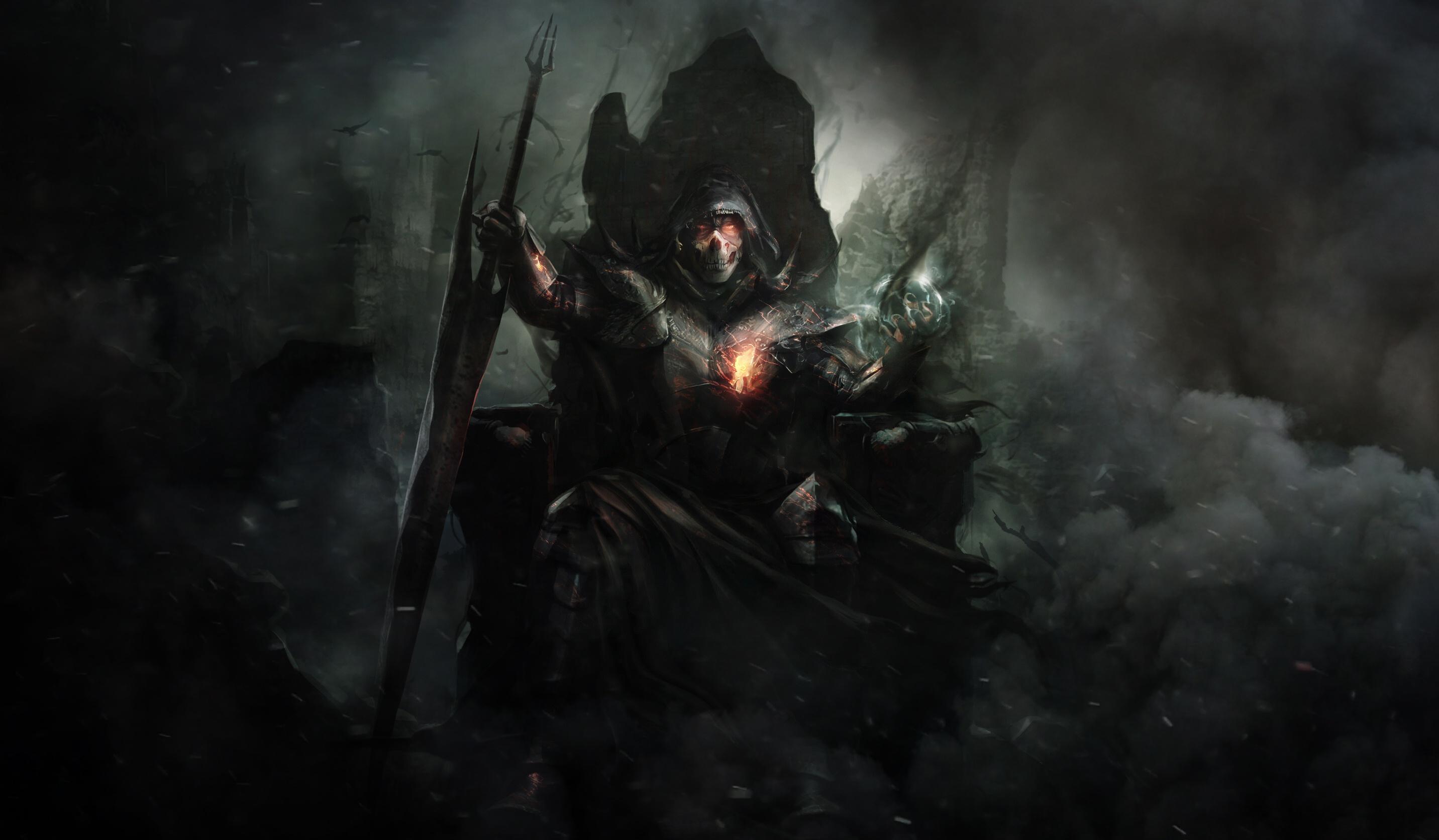 wallpaper dark artwork fantasy art demon 2864x1672