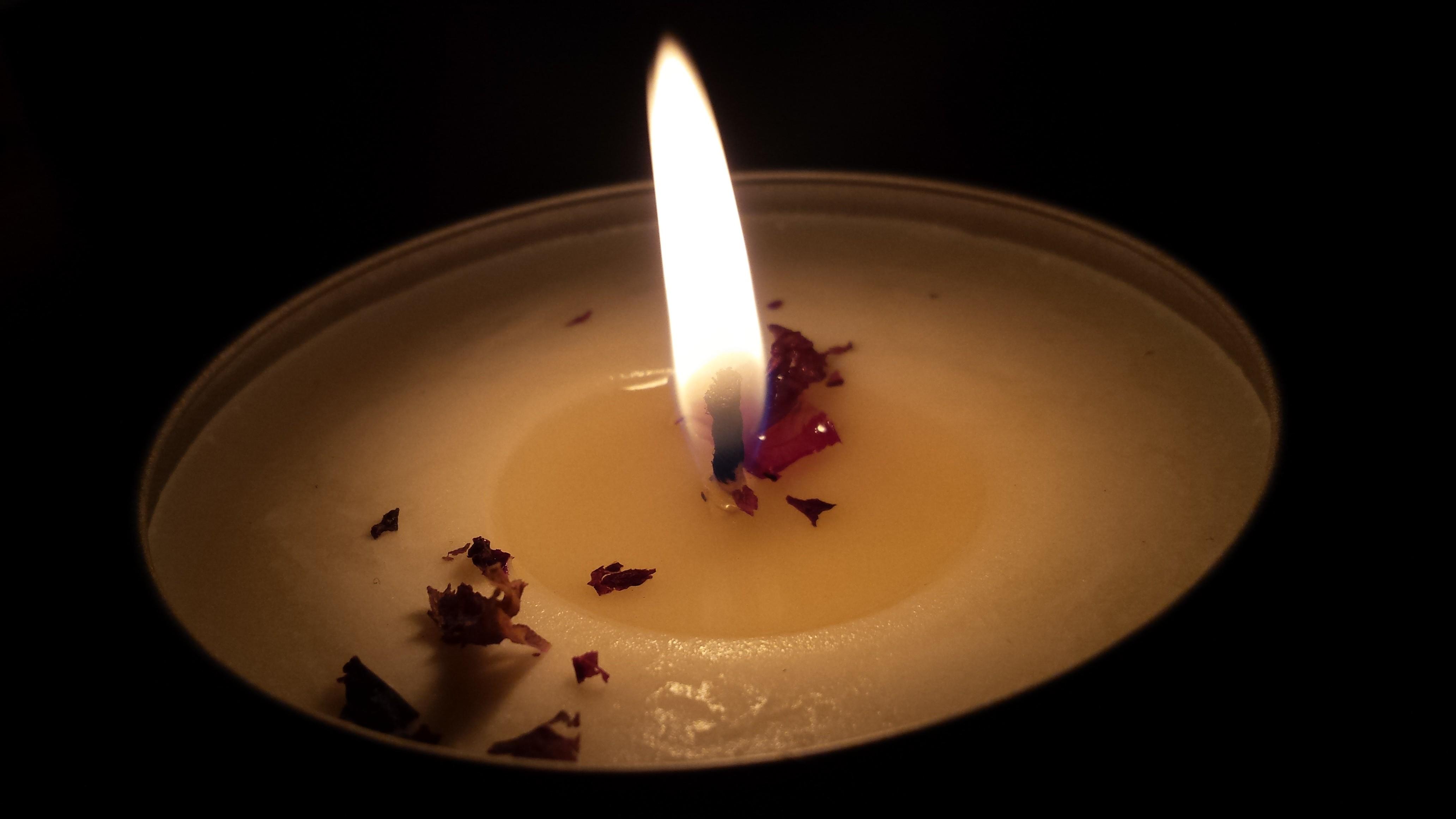 Sfondi buio candele fuoco rilassamento rilassante caldo