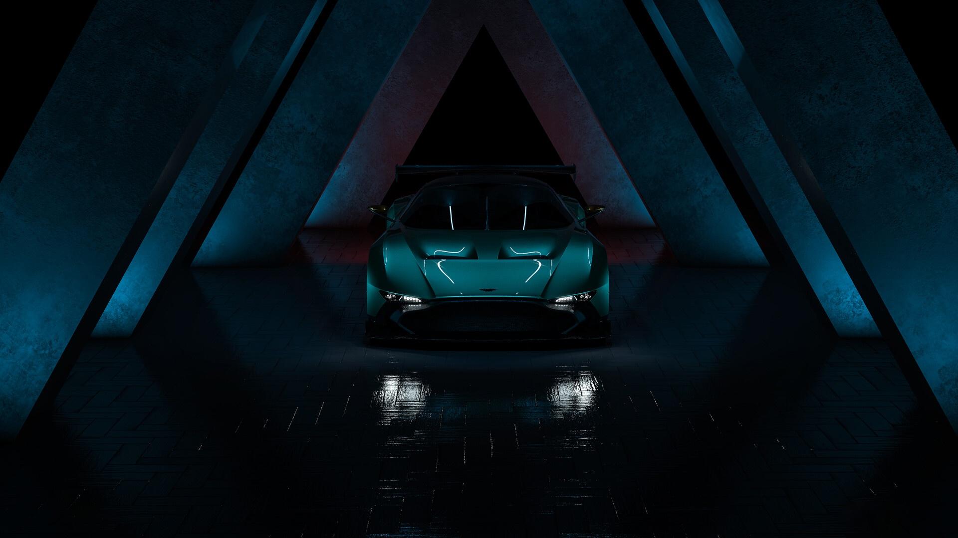 Wallpaper Dark Car Vehicle Aston Martin 1920x1080