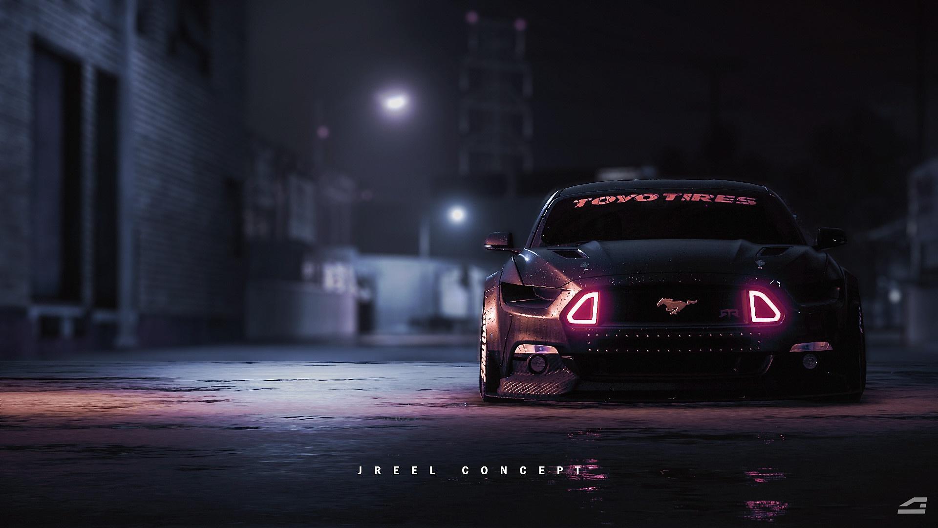 Fondos De Pantalla Oscuro Coche Vehiculo Vado Ford Mustang 1920x1080 Wallpapermaniac 1458511 Fondos De Pantalla Wallhere