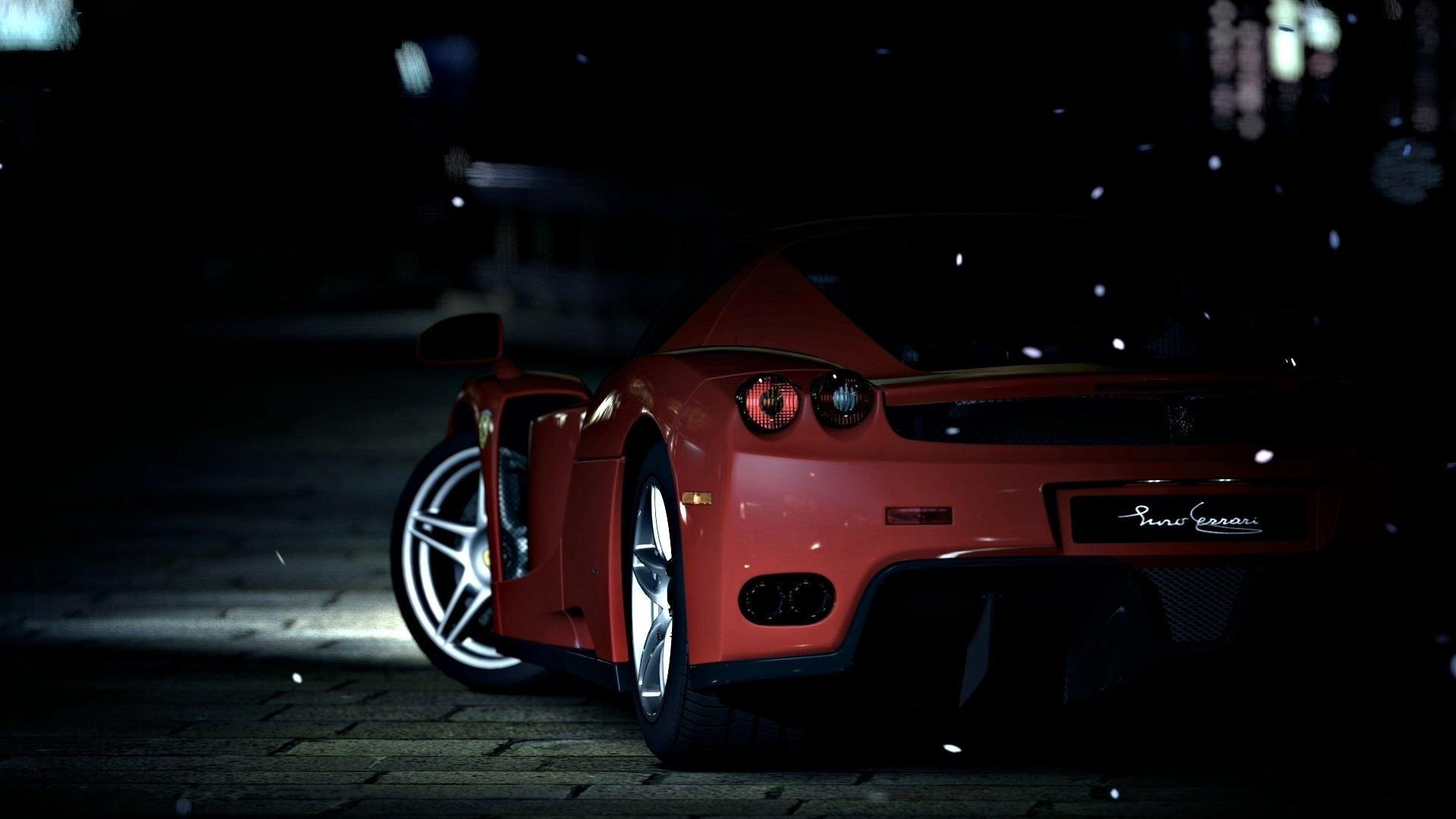 Wallpaper Dark Sports Car Ferrari Coupe Performance Car
