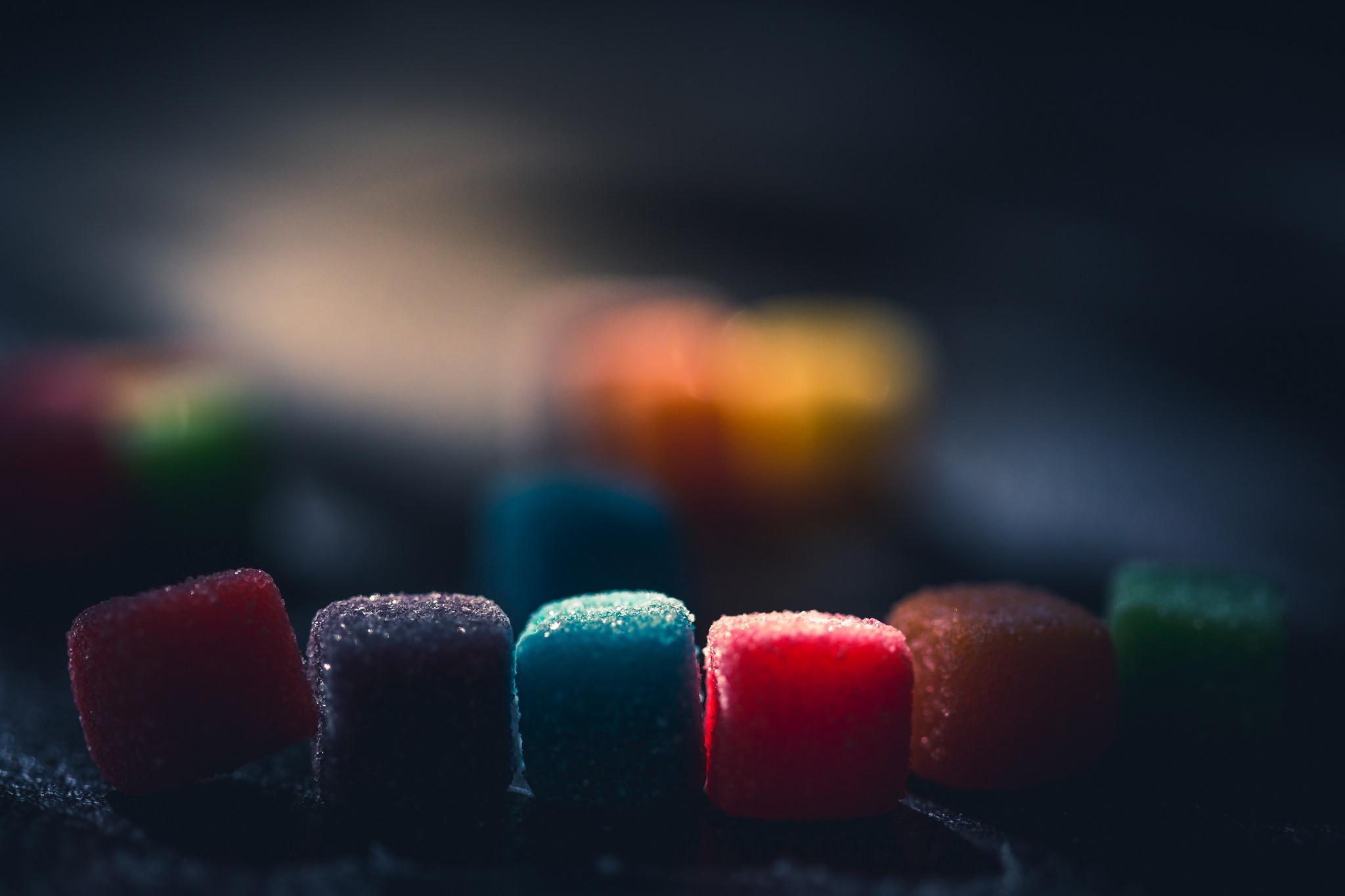 Wallpaper Dark Colorful Sweets Food Macro 2048x1365