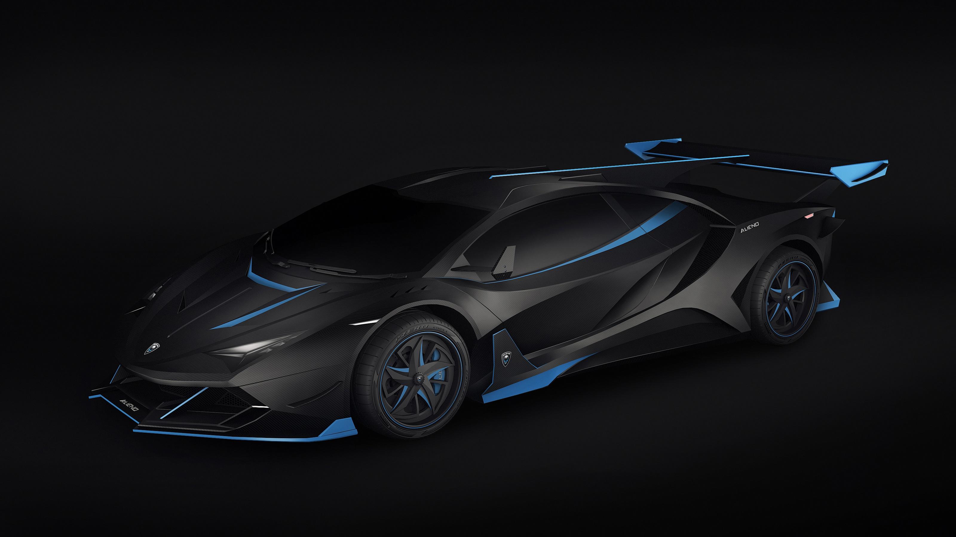 Wallpaper Dark Digital Art Car Vehicle Lamborghini 3200x1800