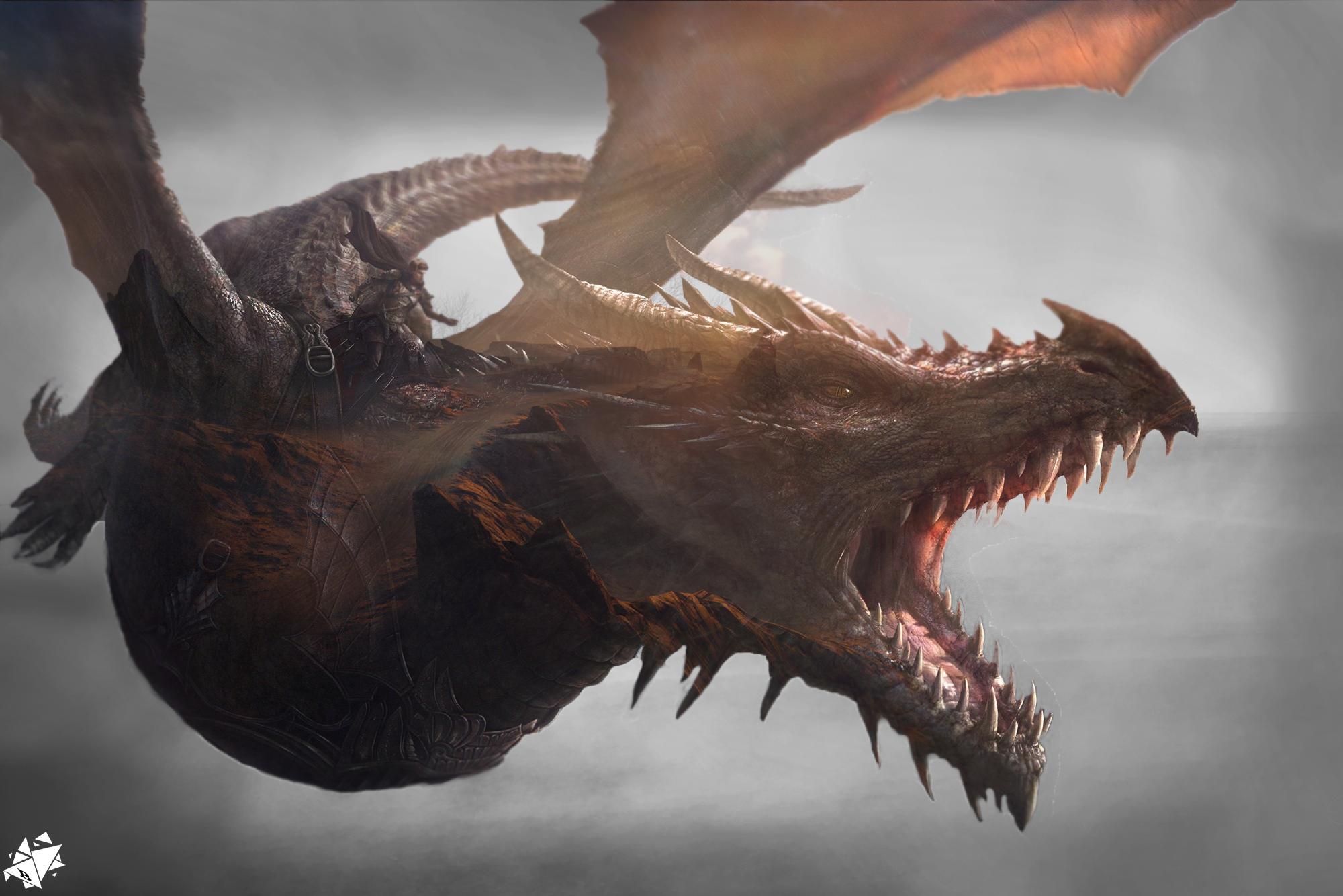 Wallpaper Dark Dragon Got 2000x1334 Barni 1225166