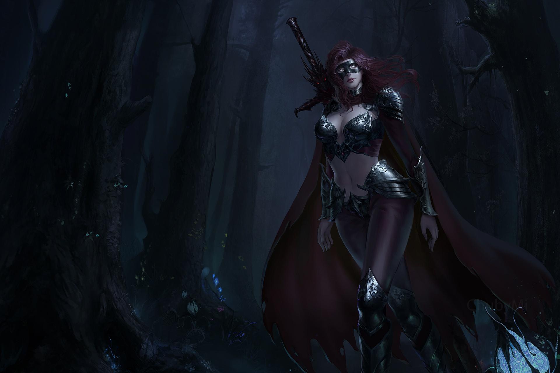 Wallpaper : fantasy art, dark fantasy, warrior, creature