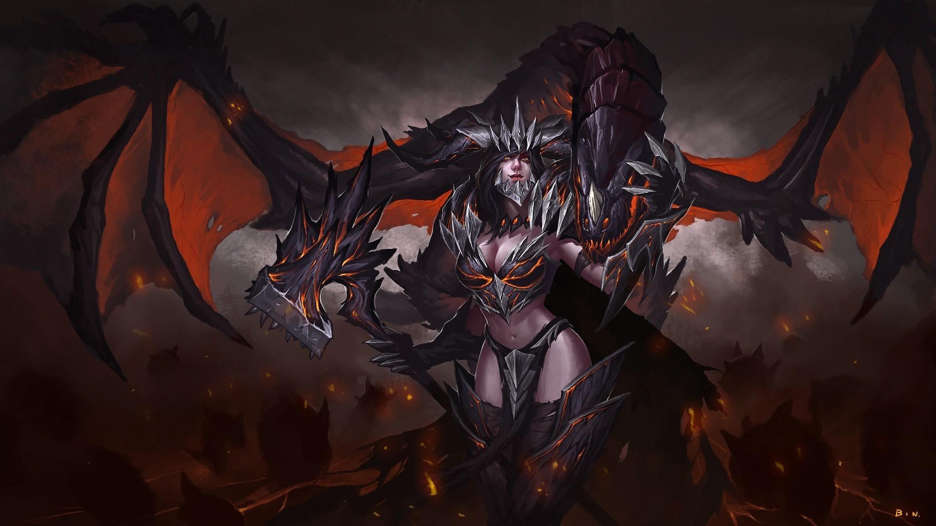 Wallpaper Dark Fantasy Fantasy Art Fantasy Girl 1920x1080