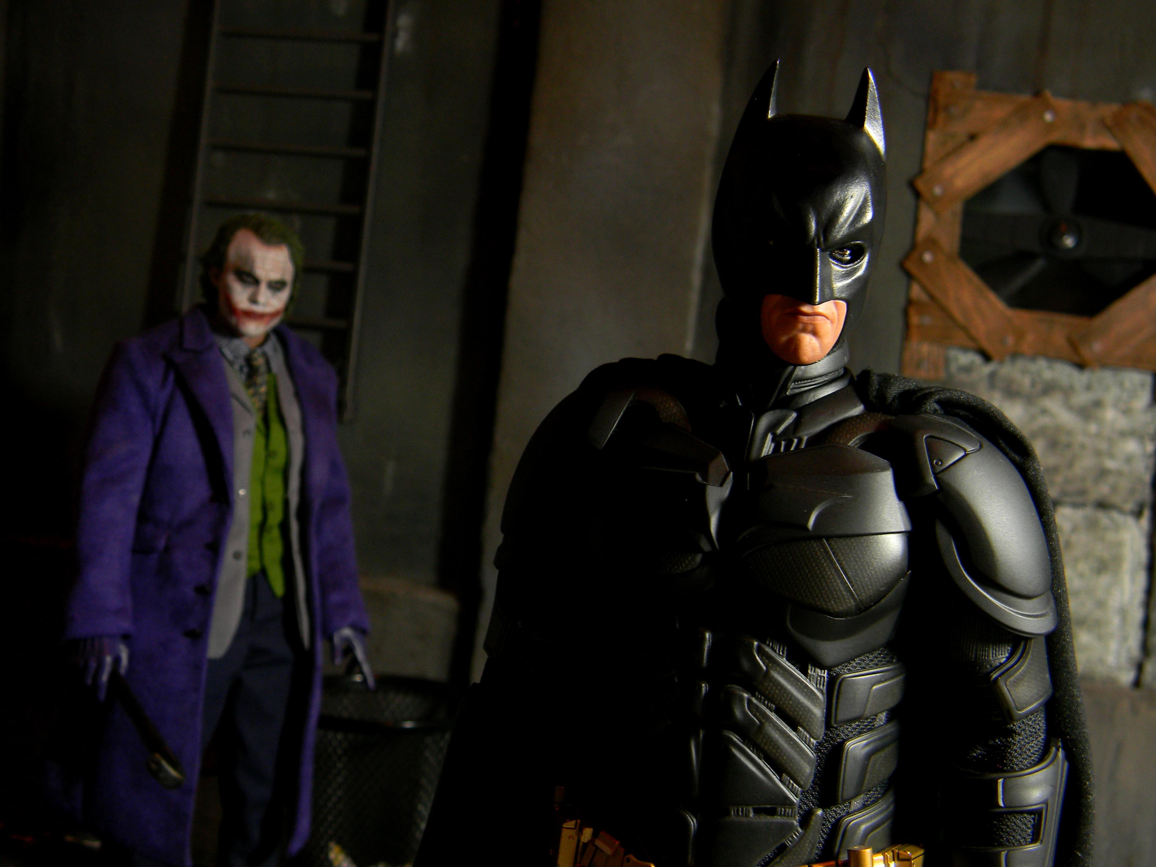 デスクトップ壁紙  騎士, バットマン, ジョーカー, 真夜中