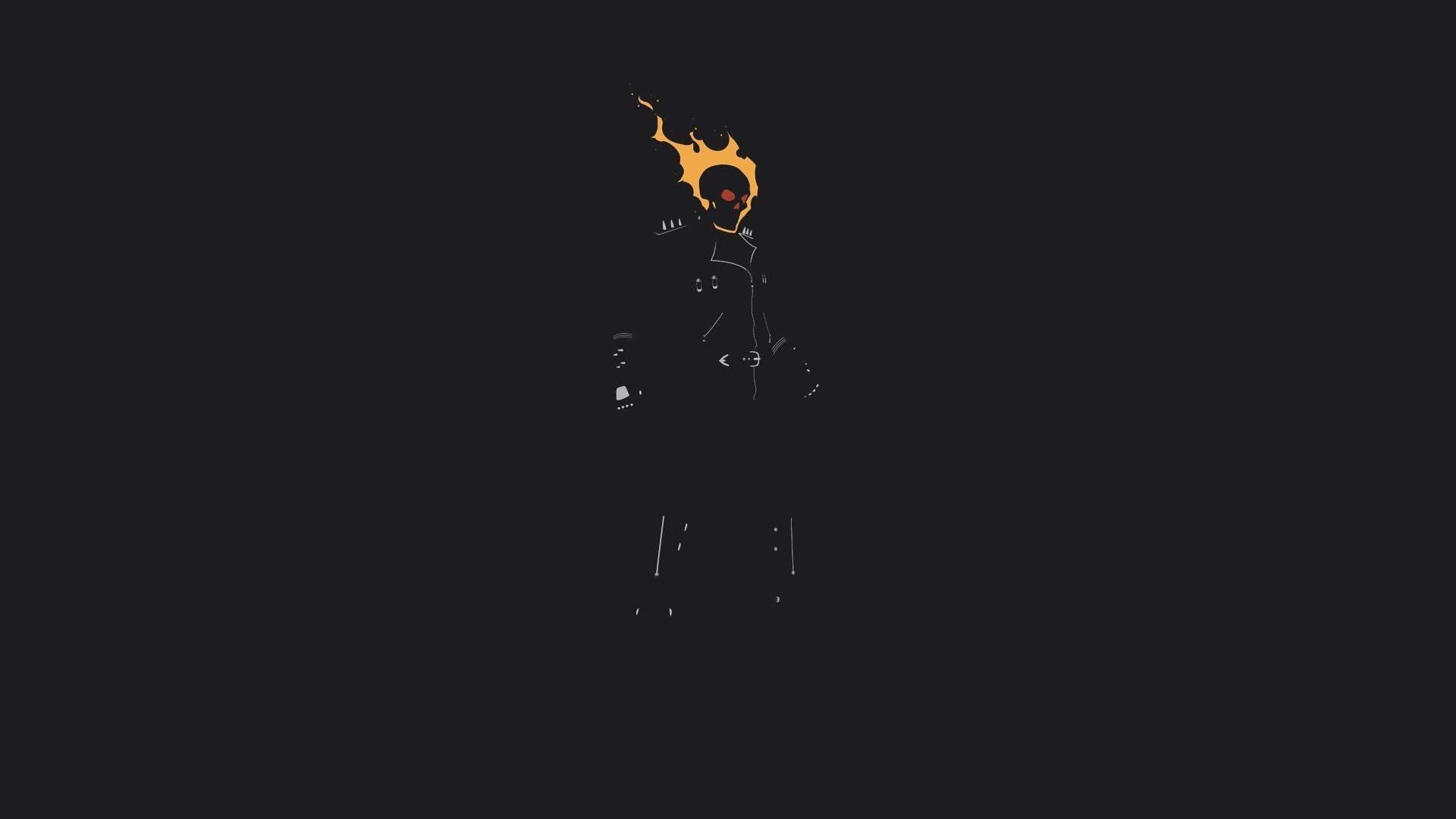 デスクトップ壁紙 ダーク ミニマリズム 映画 ロゴ 火災 単純な