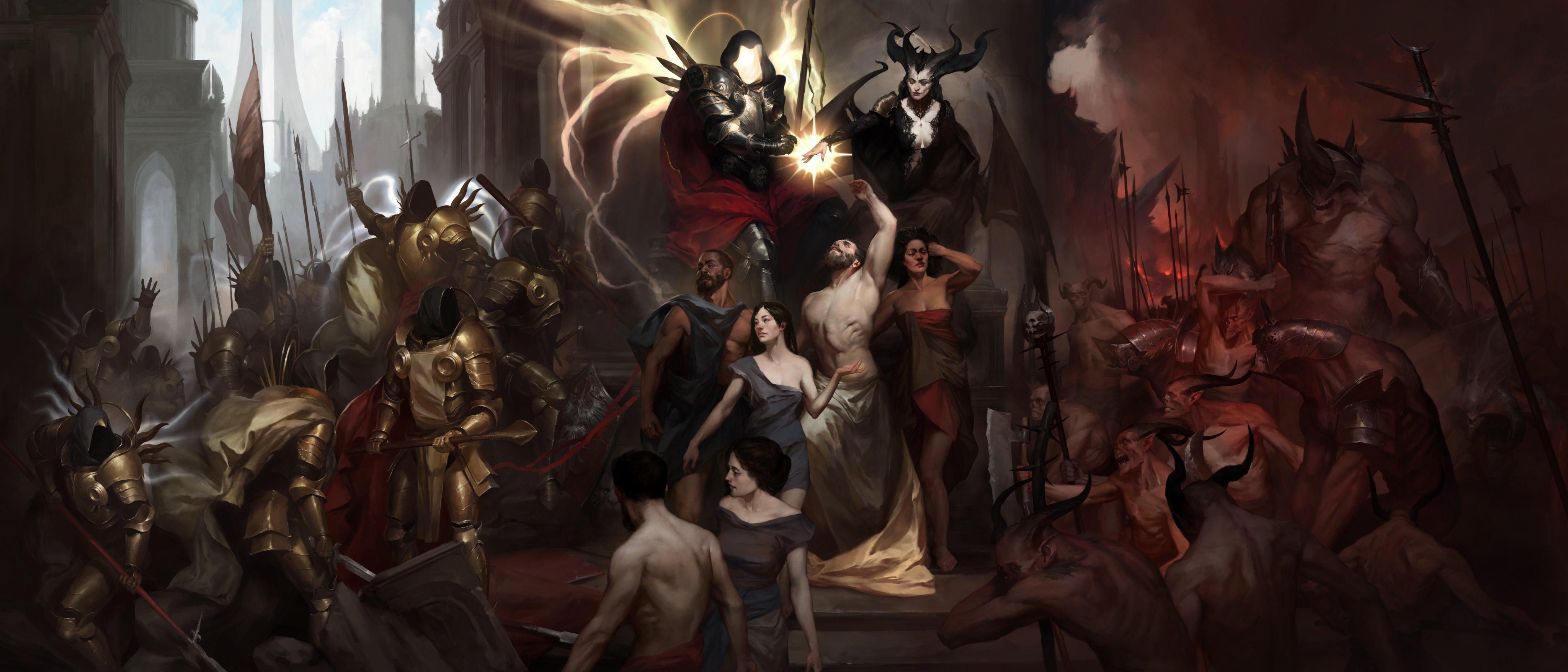 Wallpaper Diablo 4 Video Game Art Blizzard Entertainment 4096x1755 Rswol 1696399 Hd Wallpapers Wallhere