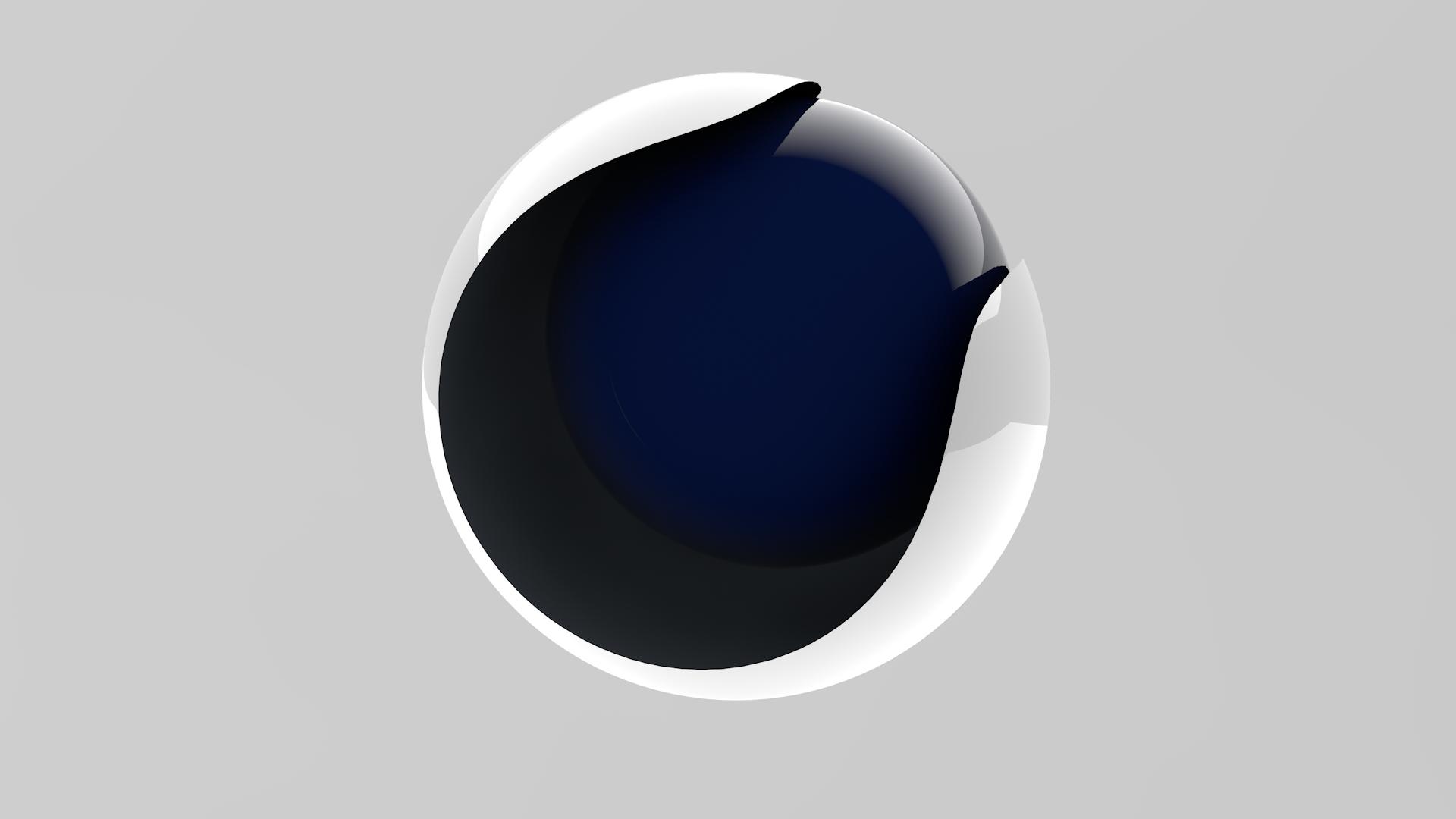 Wallpaper : digital art, 3D, sphere, logo, circle, Cinema 4D