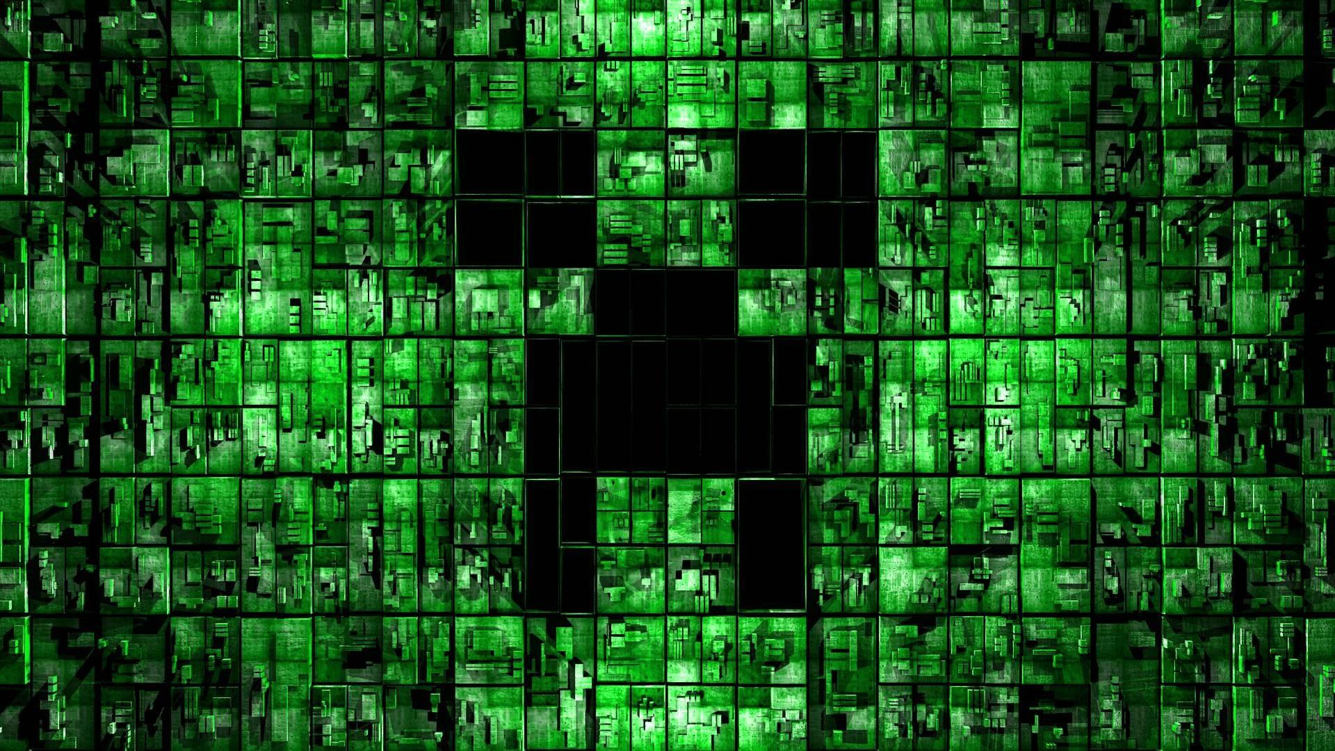 Wallpaper : digital art, 3D, text, symmetry, Minecraft