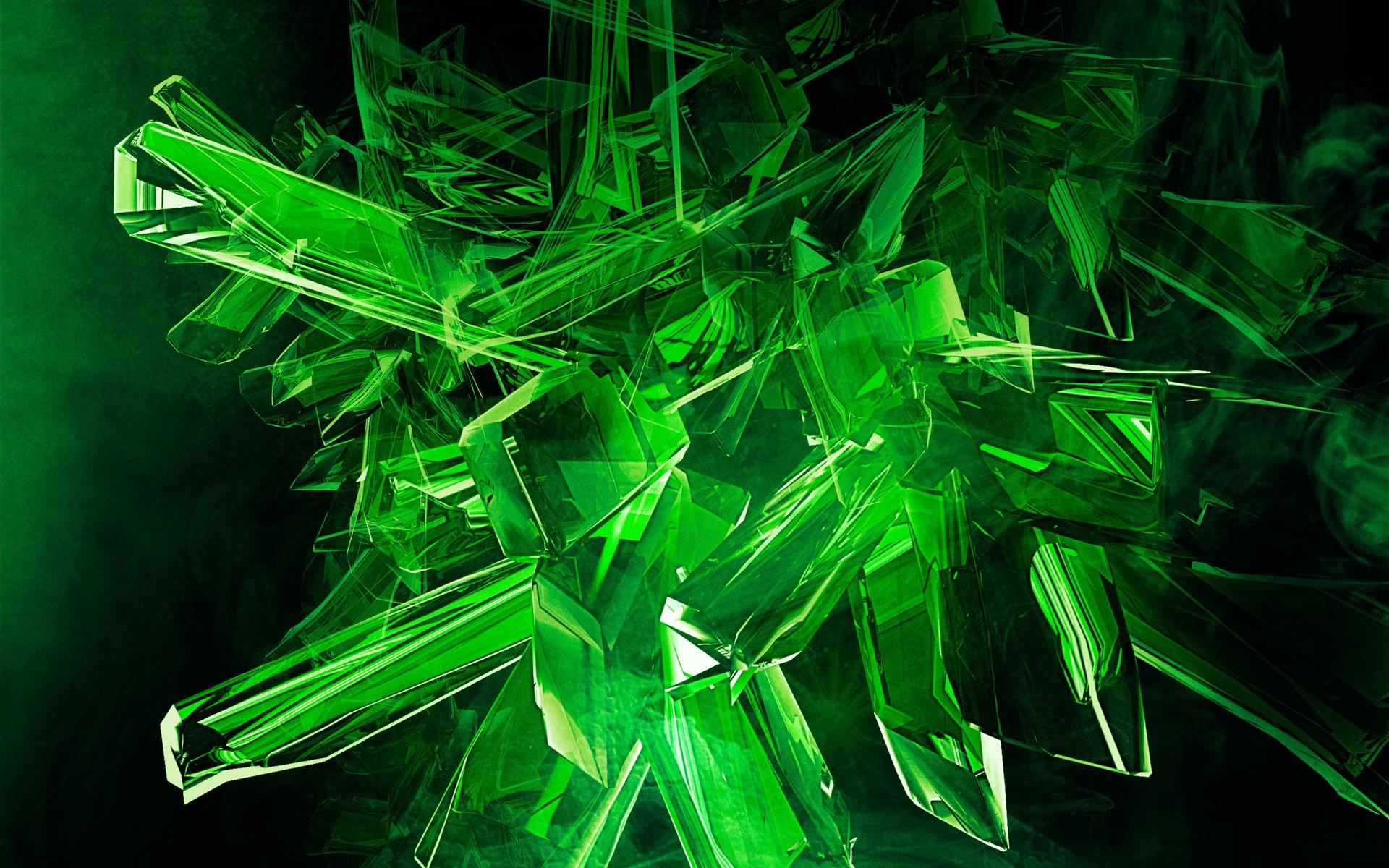 Digital Art Abstract Grass Green Crystal Laser 1920x1200 Px Computer Wallpaper Organism Aquatic Plant