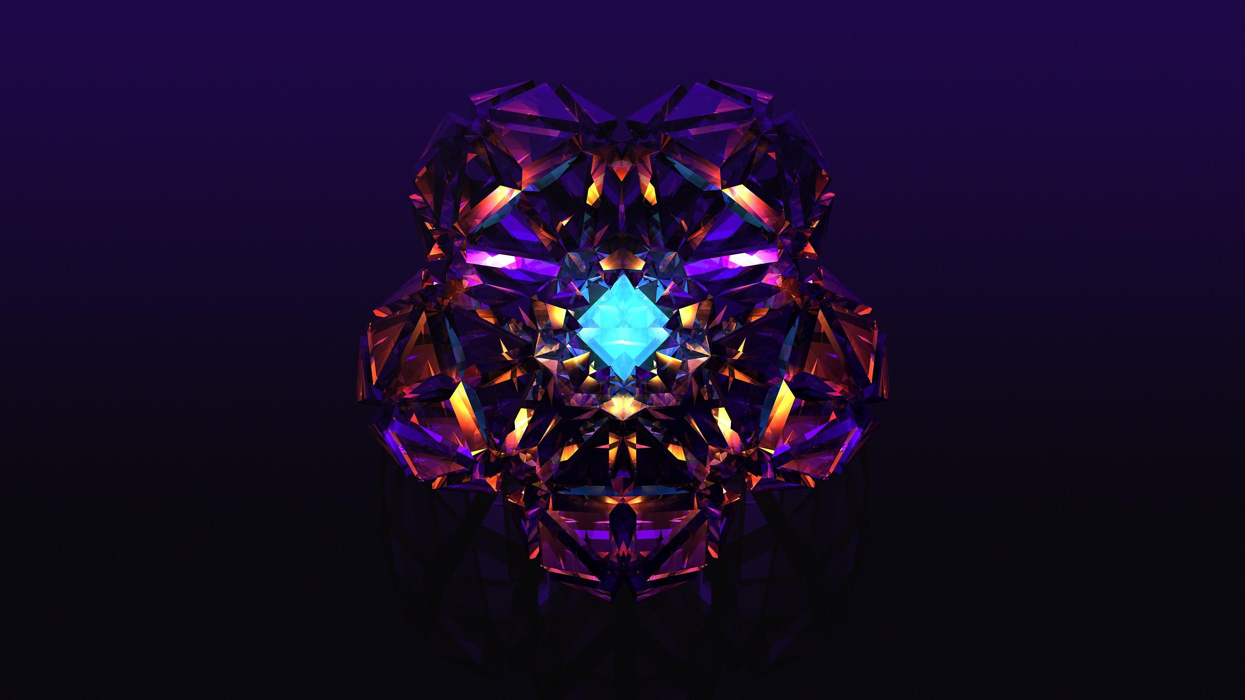 Sfondi : arte digitale astratto viola sfera simmetria blu