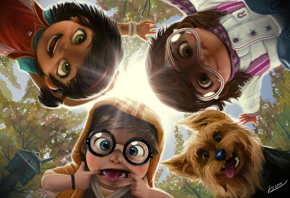 Wallpaper Seni Digital Anime Anak Anak Bioskop Gambar