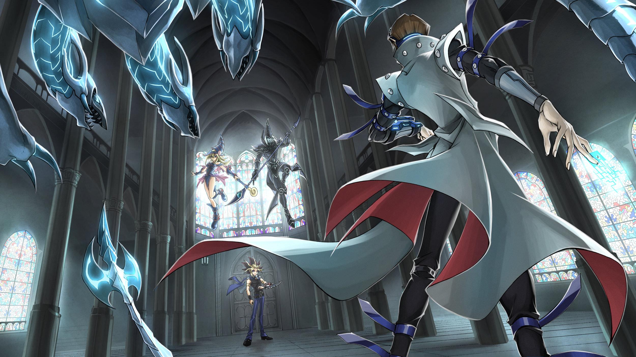 Digitale Kunst Kunstwerk Anime Animejungen Madchen Dunkles Magier Yugioh Yu Gi Oh Dunkler