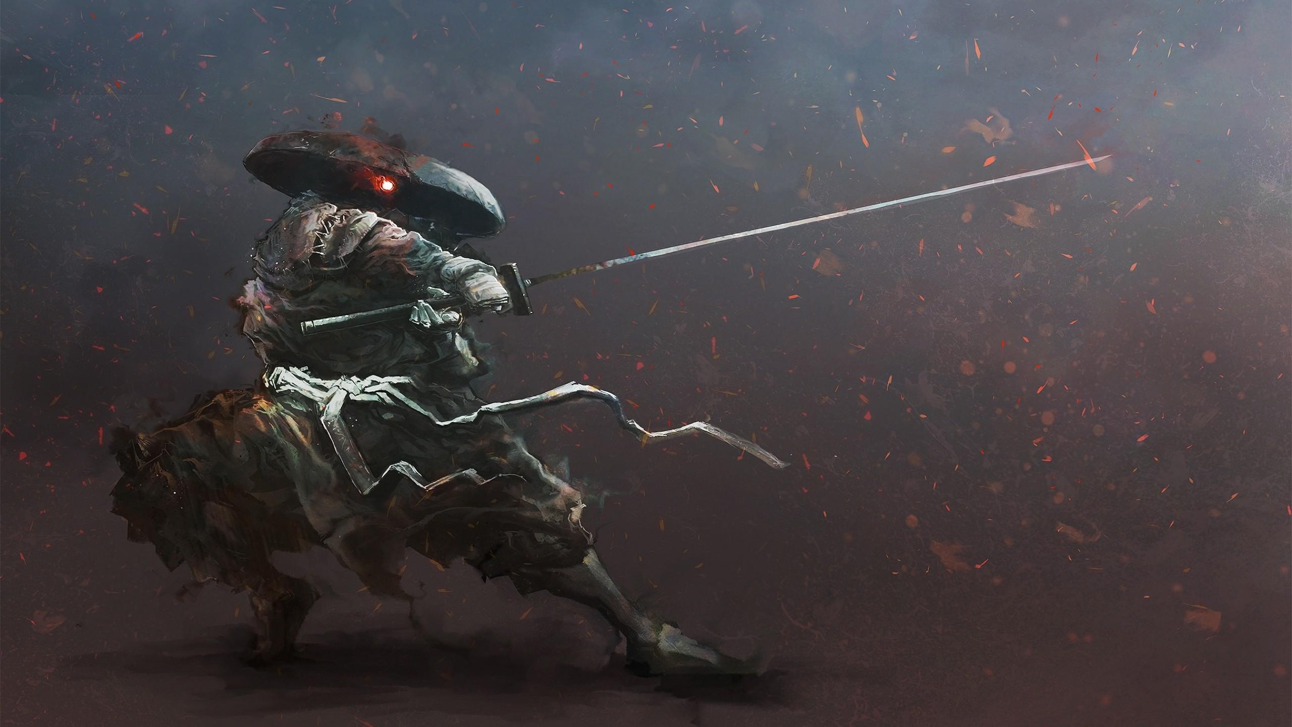 Wallpaper : digital art, artwork, katana, warrior, samurai ...